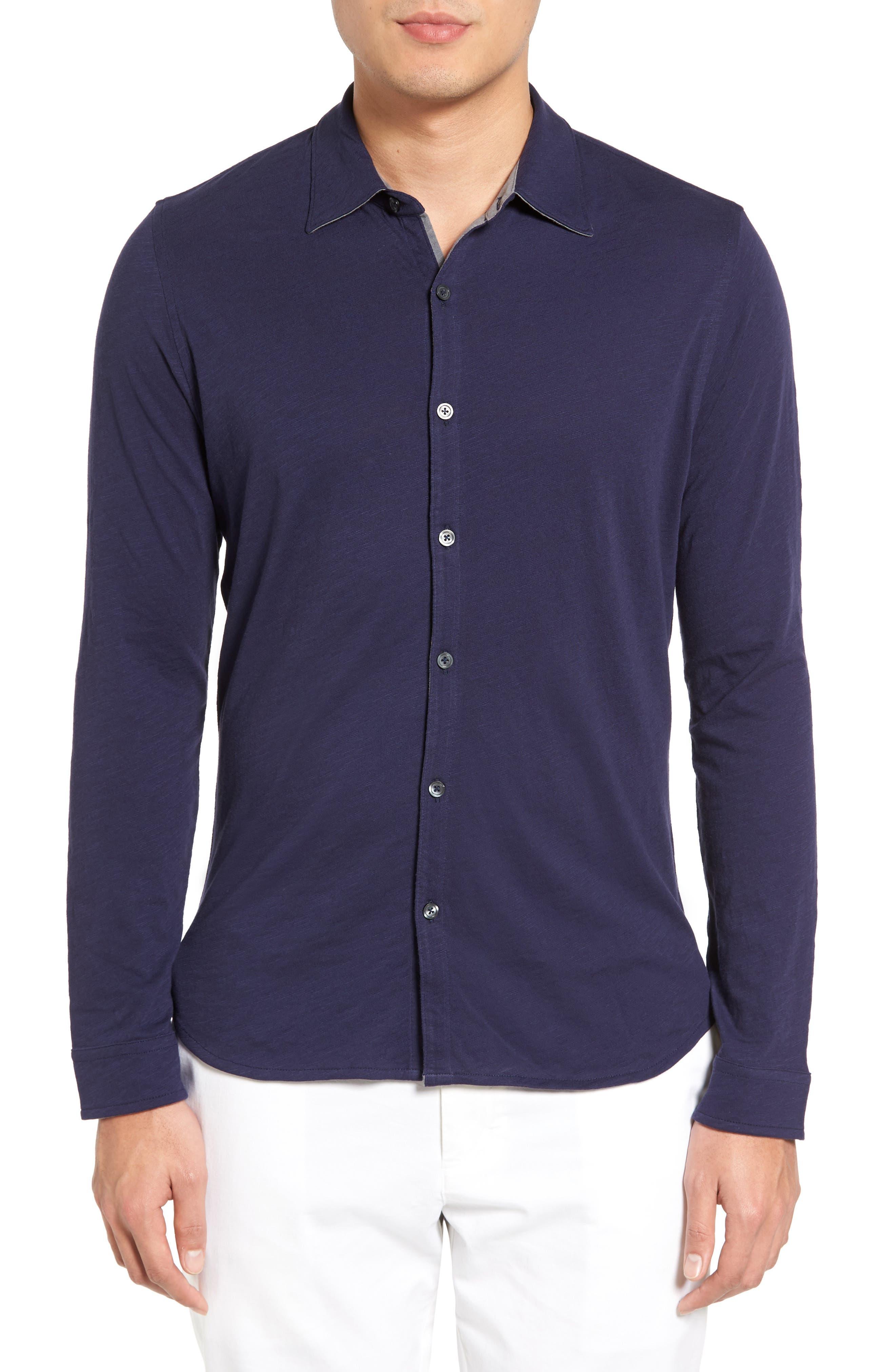 Camara Trim Fit Knit Sport Shirt,                             Main thumbnail 2, color,