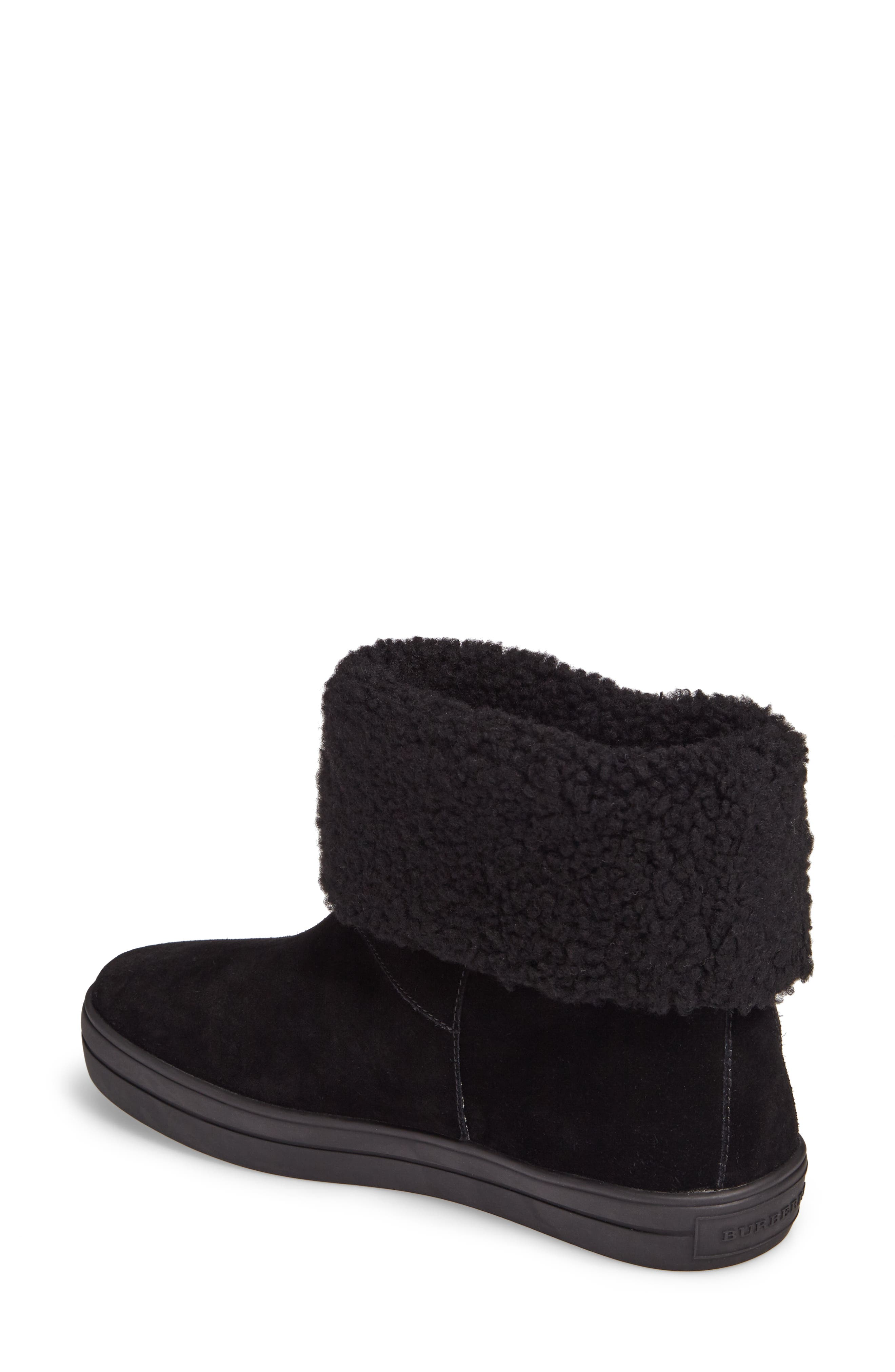 Genuine Shearling Boot,                             Alternate thumbnail 3, color,