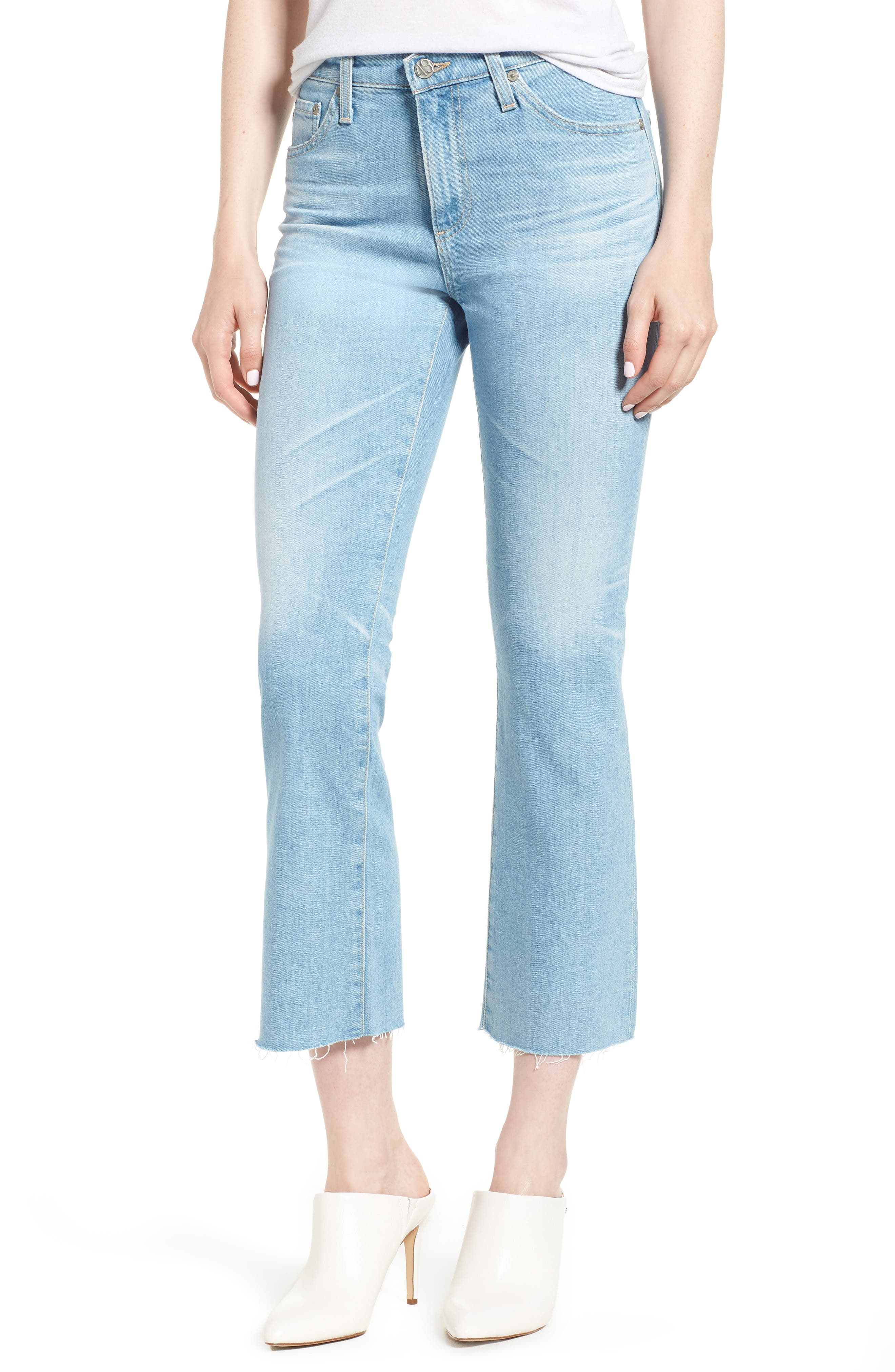 Jodi Crop Flare Jeans,                             Main thumbnail 1, color,                             496