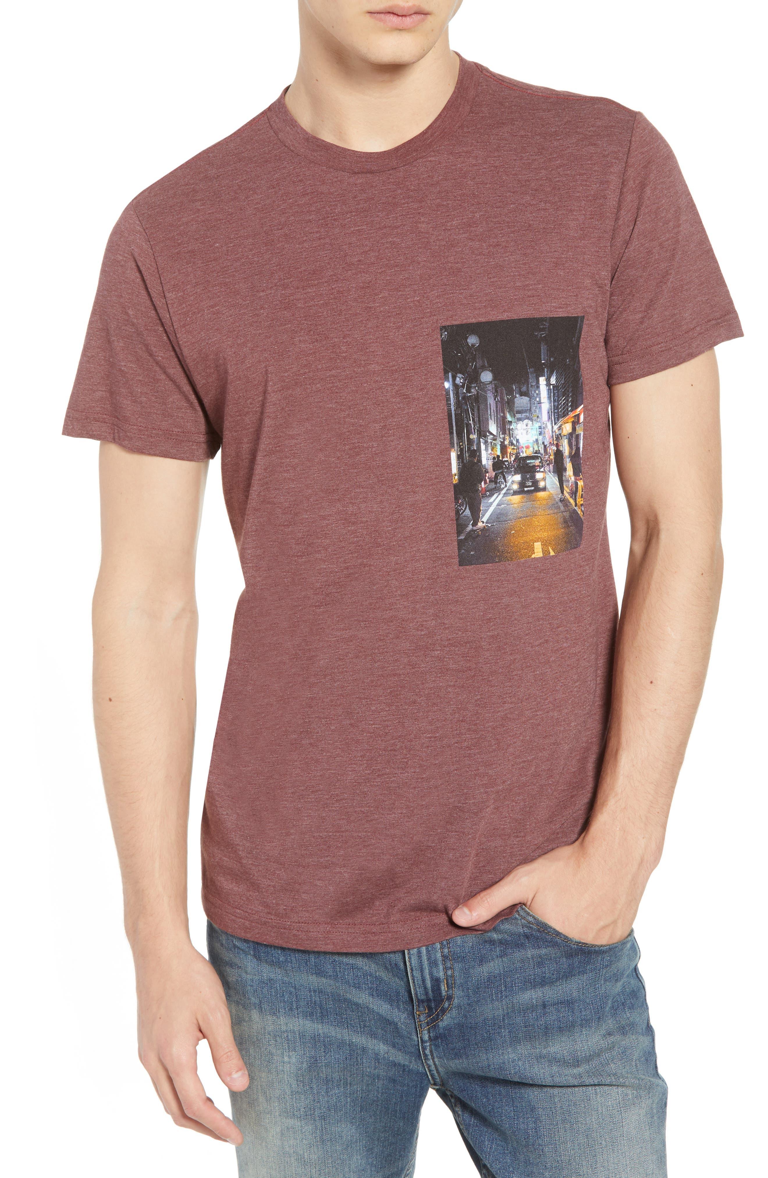 Curren Photo Graphic T-Shirt,                             Main thumbnail 1, color,                             BORDEAUX