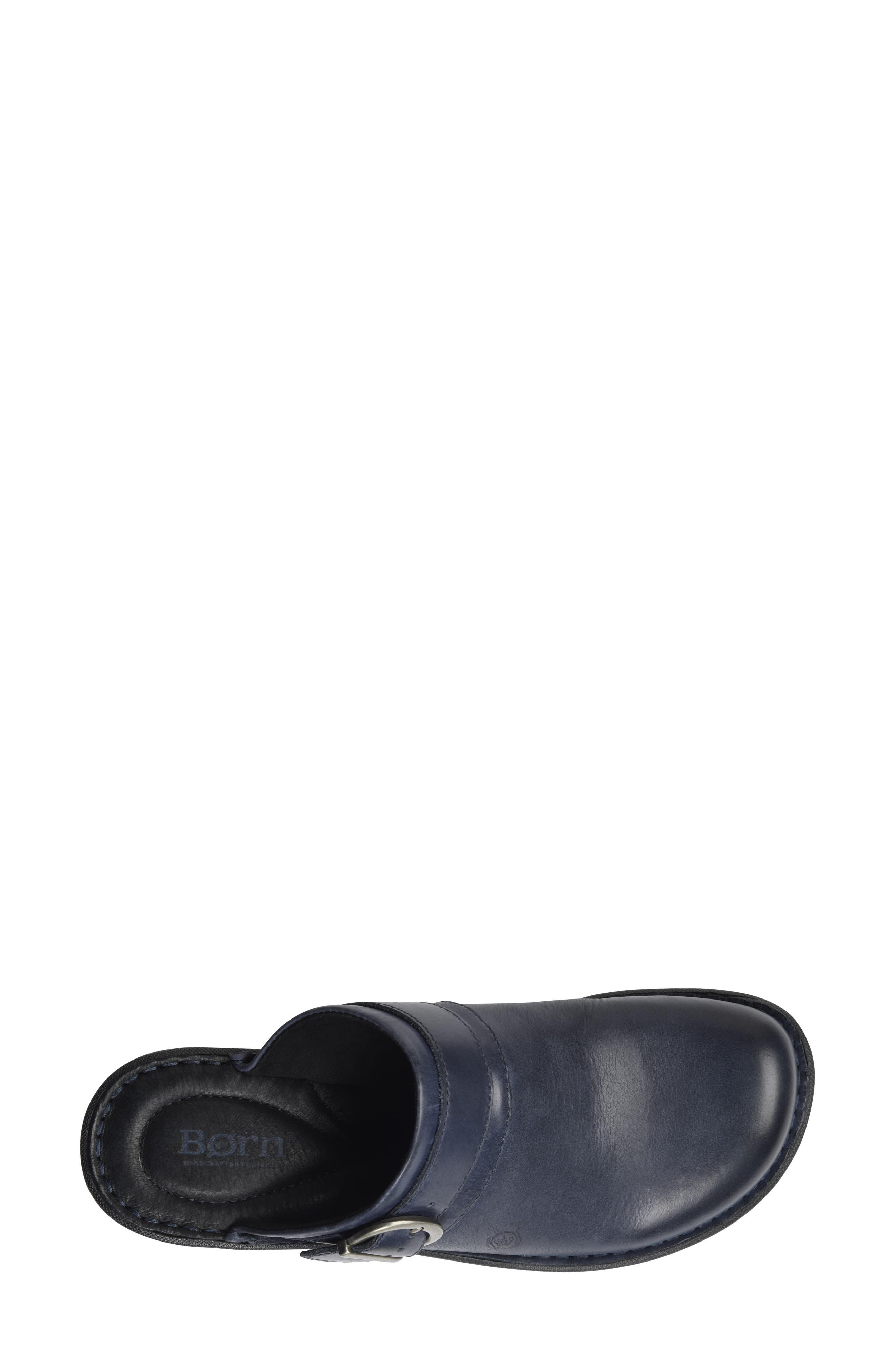 Avoca Clog,                             Alternate thumbnail 5, color,                             NAVY LEATHER