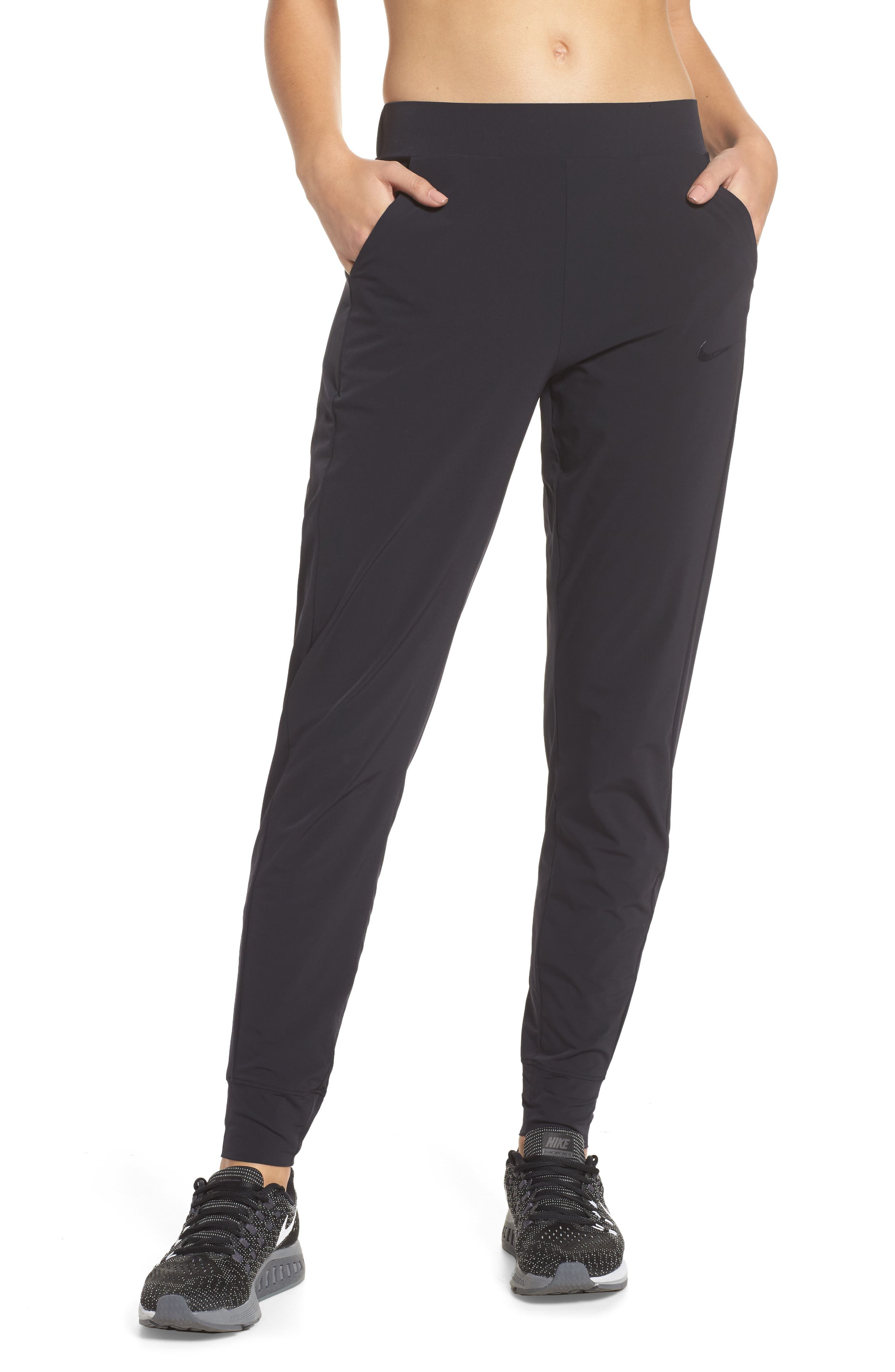 Bliss Training Pants,                         Main,                         color, BLACK/ CLEAR