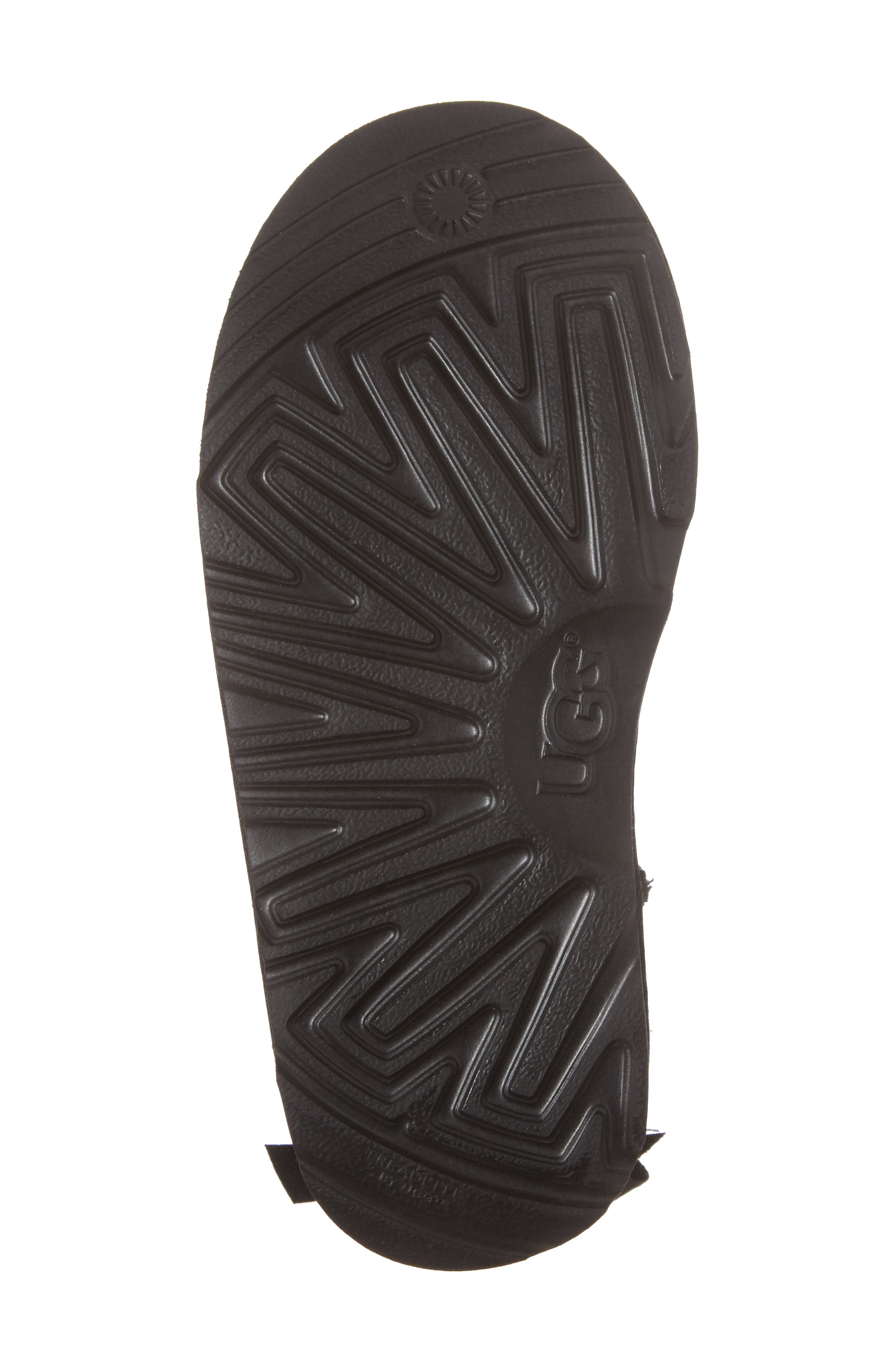 UGG<SUP>®</SUP>,                             Bailey Bow II Water Resistant Genuine Shearling Boot,                             Alternate thumbnail 6, color,                             BLACK SUEDE