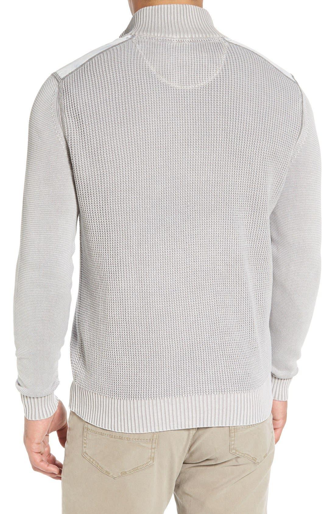 'Coastal Shores' Quarter Zip Sweater,                             Alternate thumbnail 14, color,