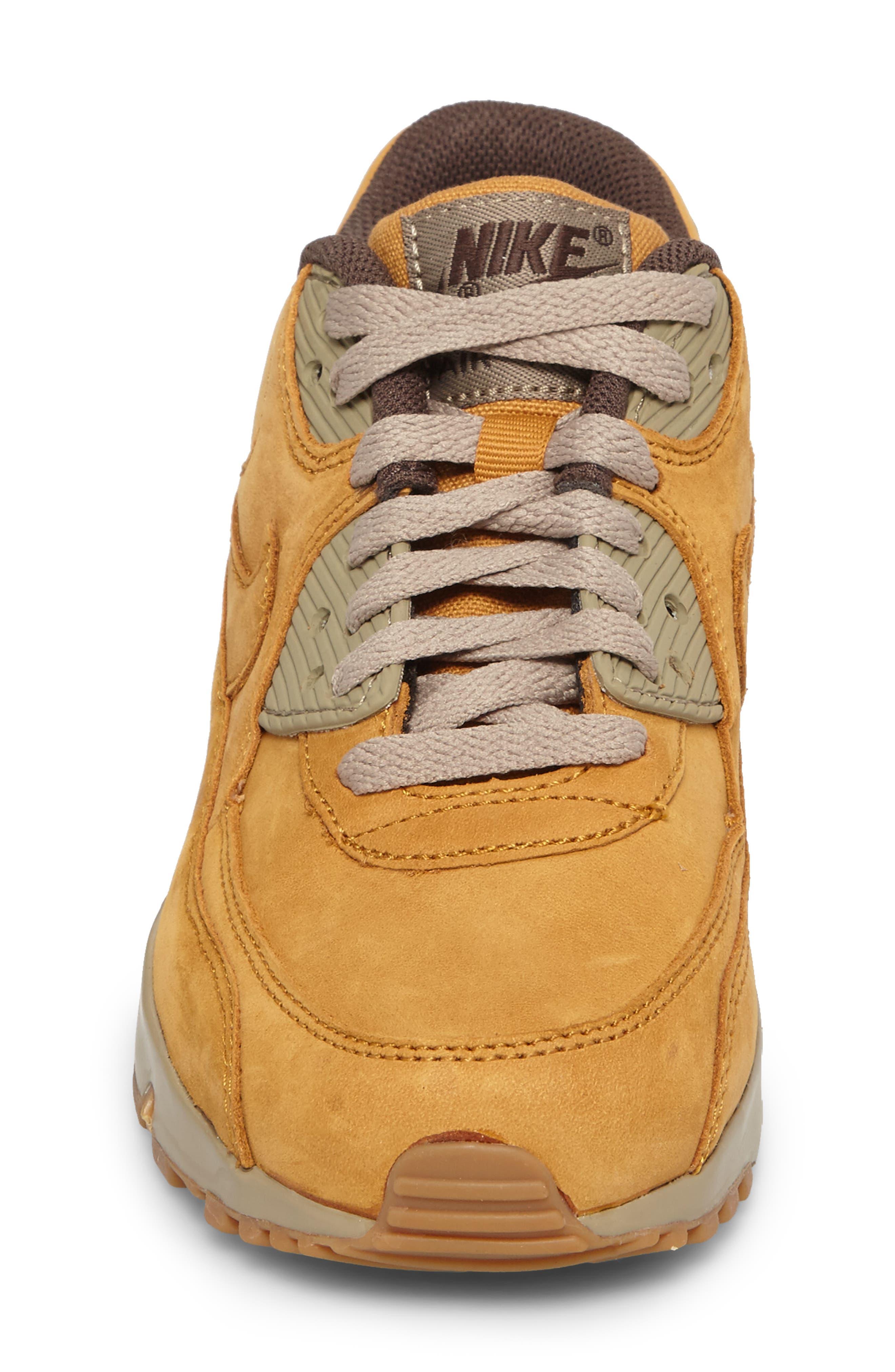 Air Max 90 Winter Premium Sneaker,                             Alternate thumbnail 4, color,                             BRONZE
