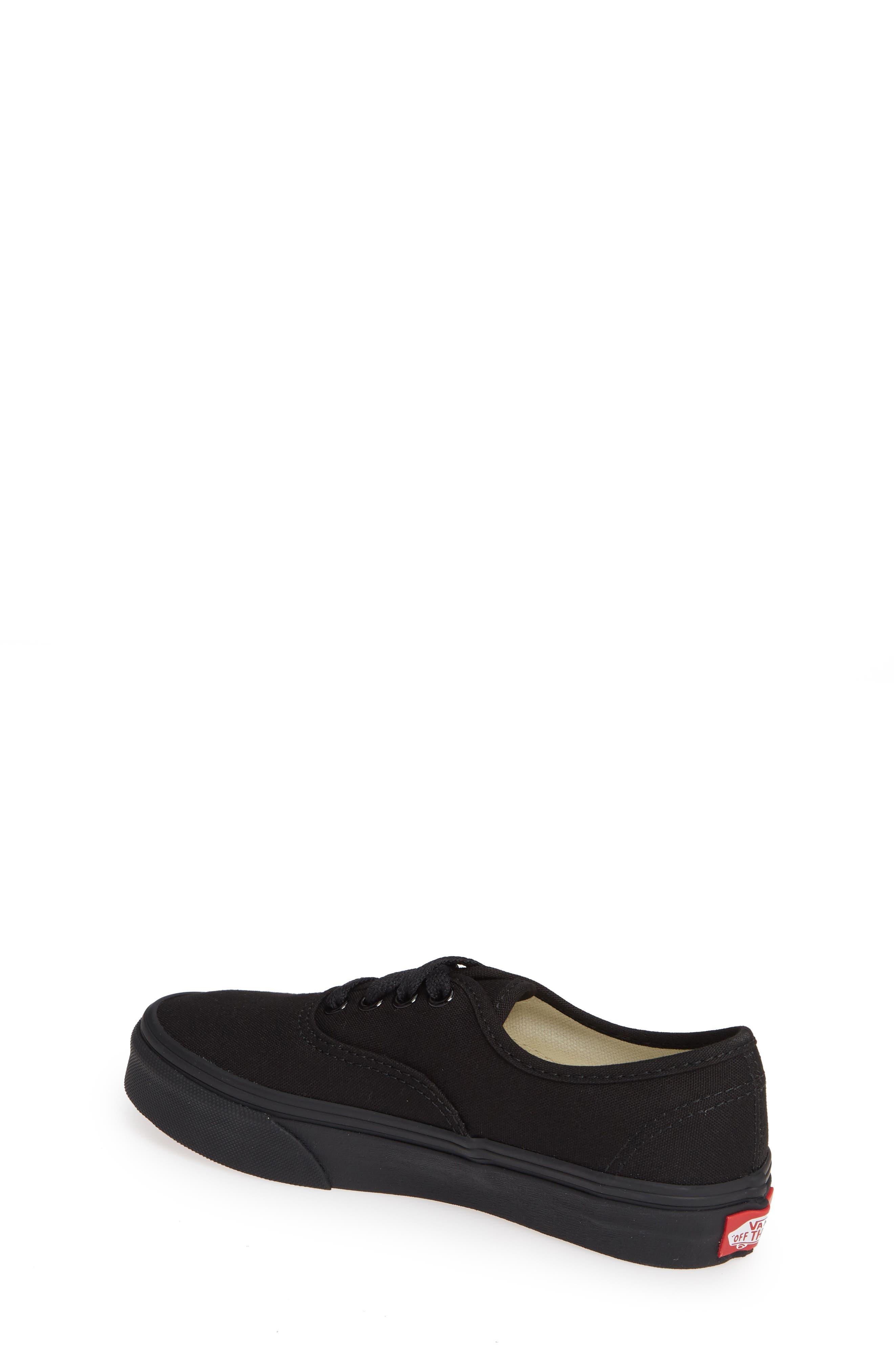 'Authentic' Sneaker,                             Alternate thumbnail 2, color,                             BLACK/ BLACK/ BLACK