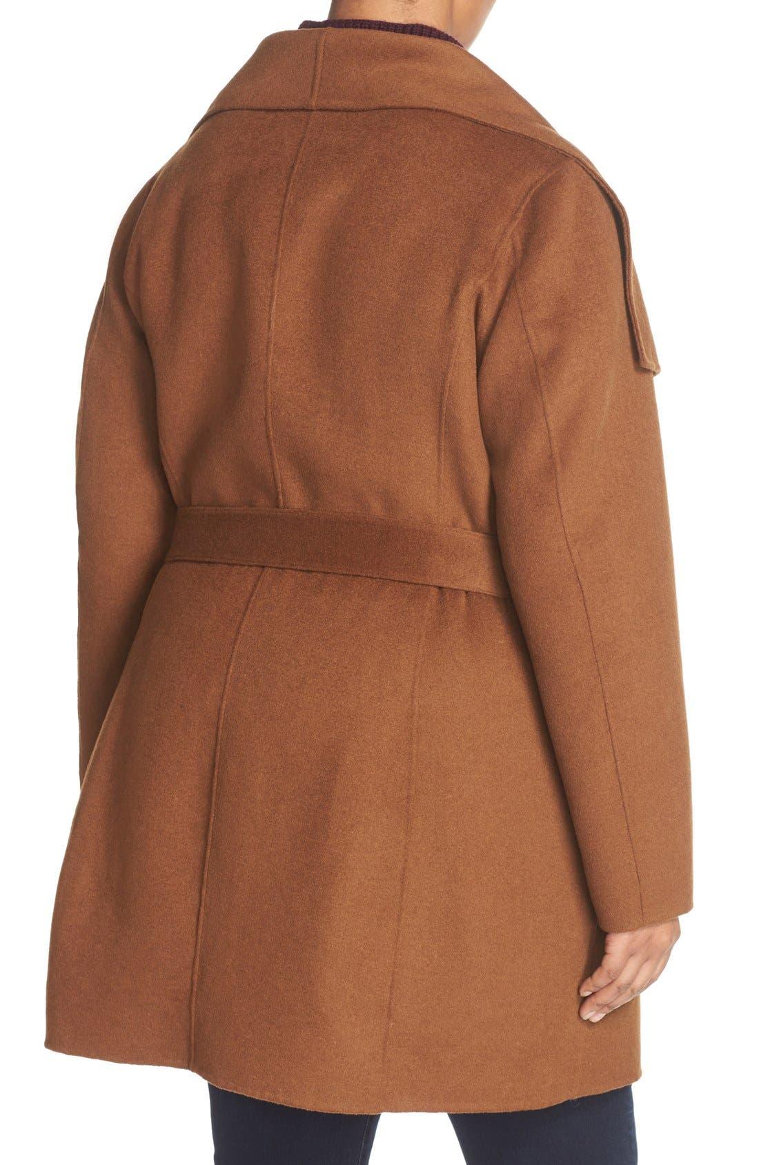 'Ella' Wrap Coat,                             Alternate thumbnail 6, color,