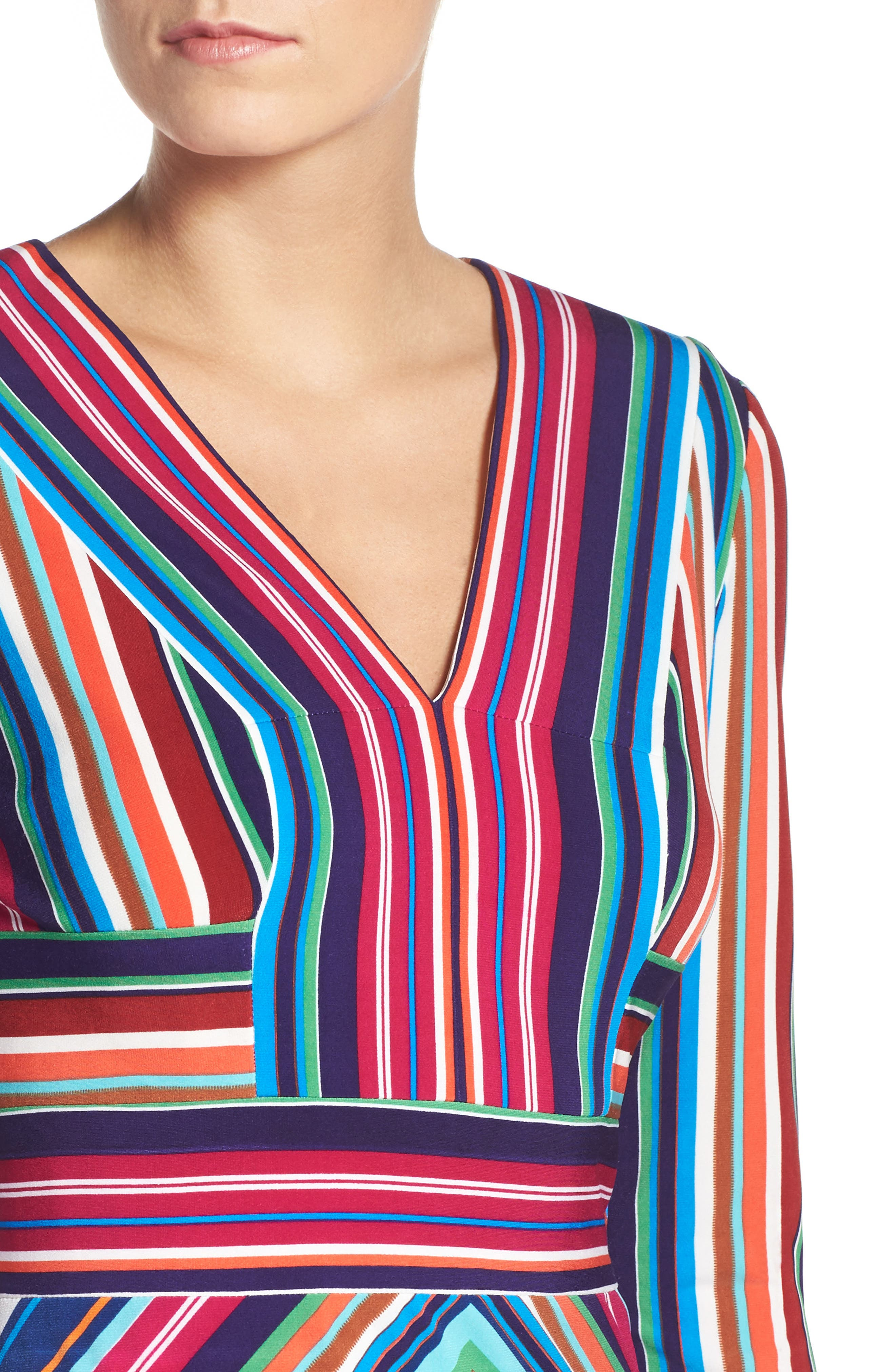 Stripe Midi Dress,                             Alternate thumbnail 4, color,                             415