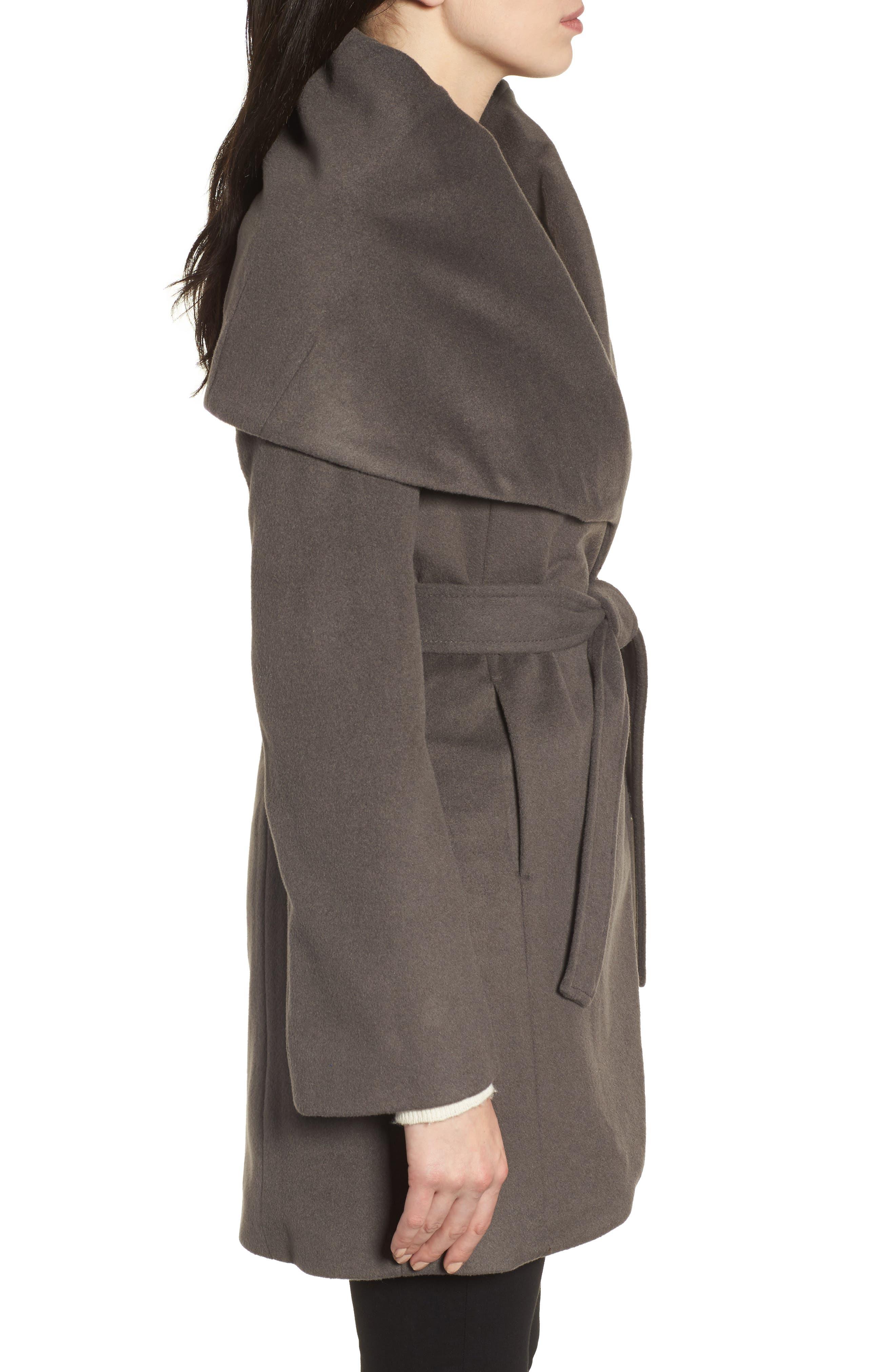 T Tahari Wool Blend Belted Wrap Coat,                             Alternate thumbnail 22, color,