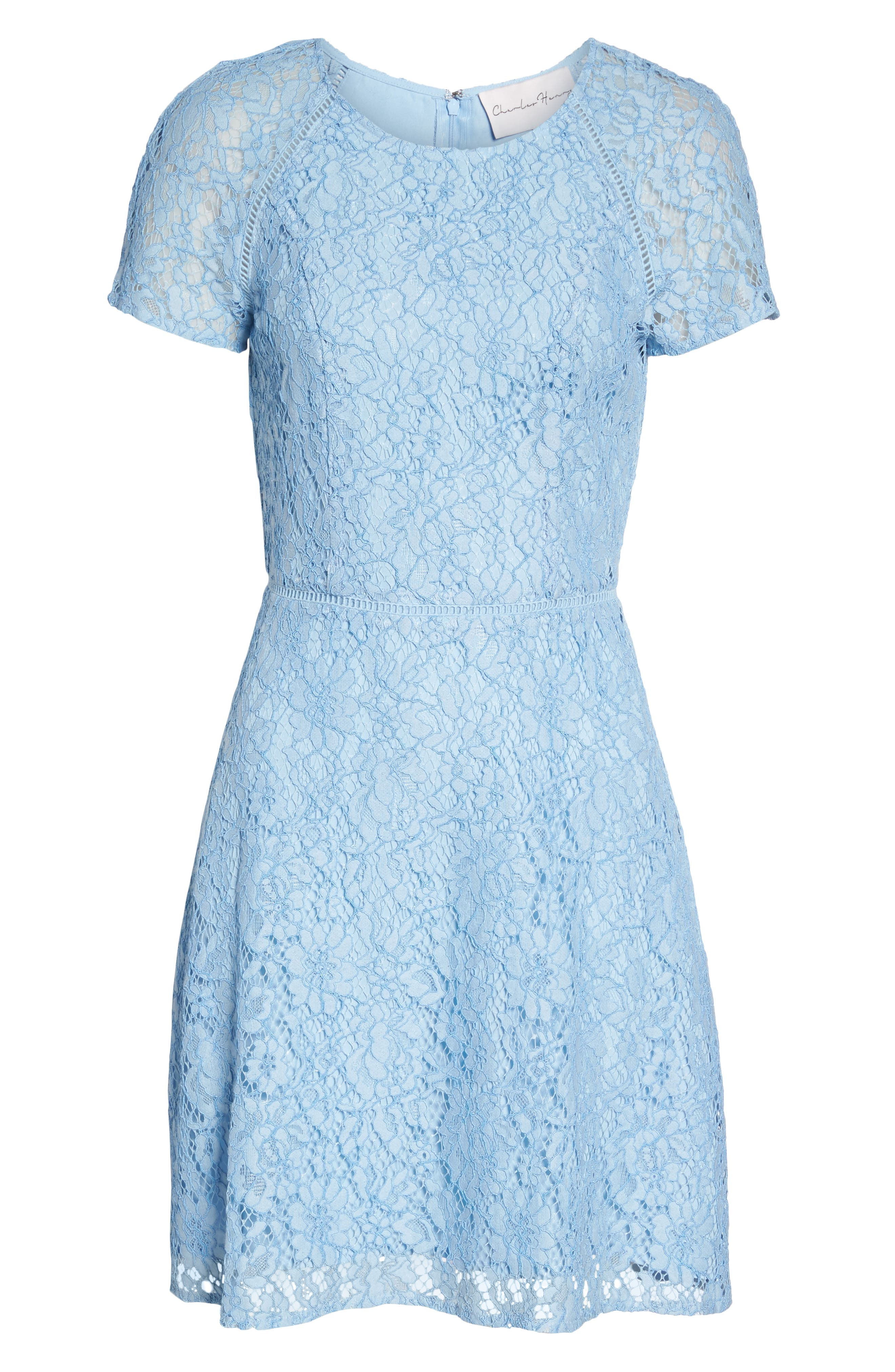 Raglan Sleeve Lace Dress,                             Alternate thumbnail 6, color,                             400