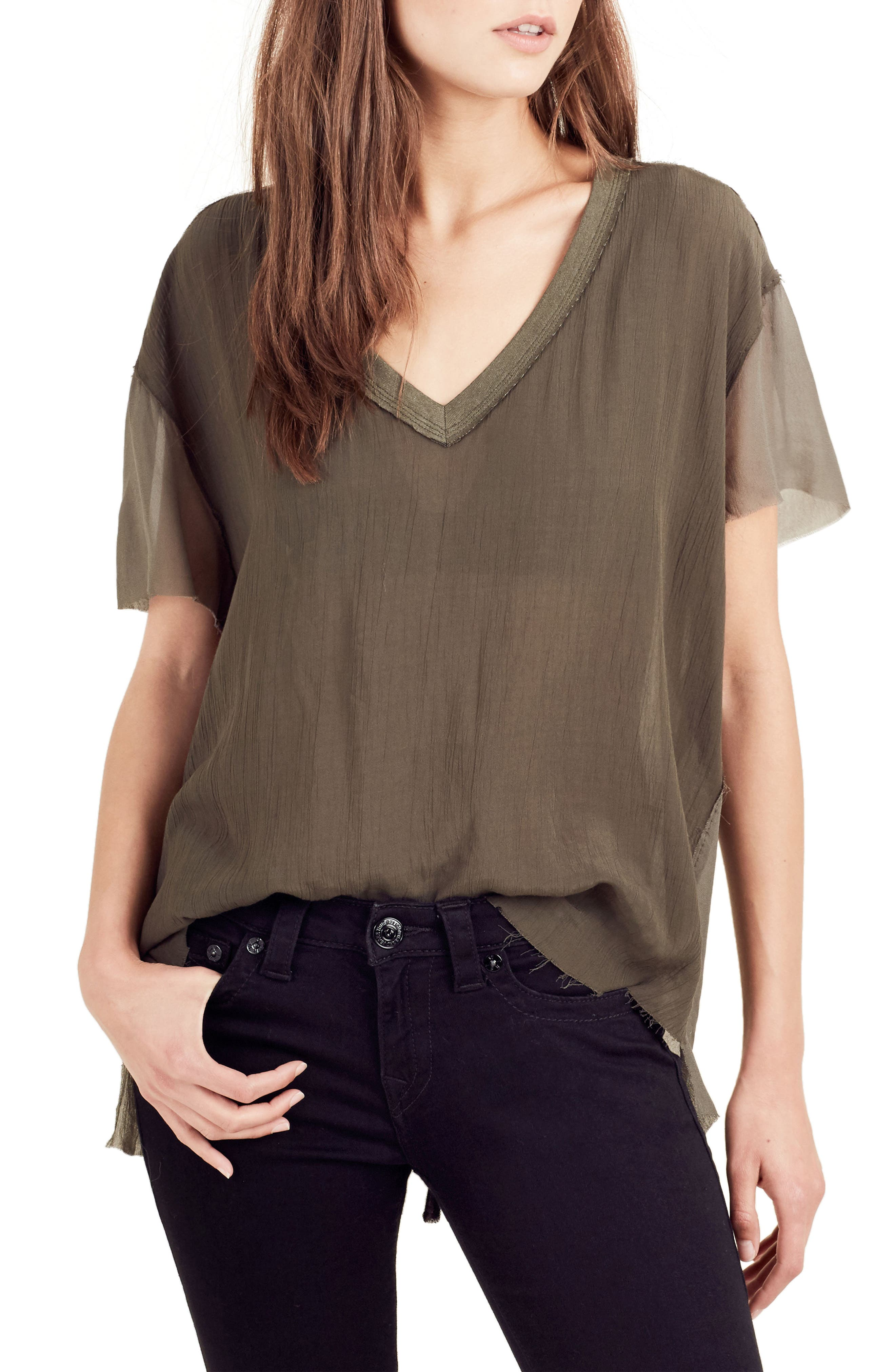 Georgette Tee,                             Main thumbnail 3, color,
