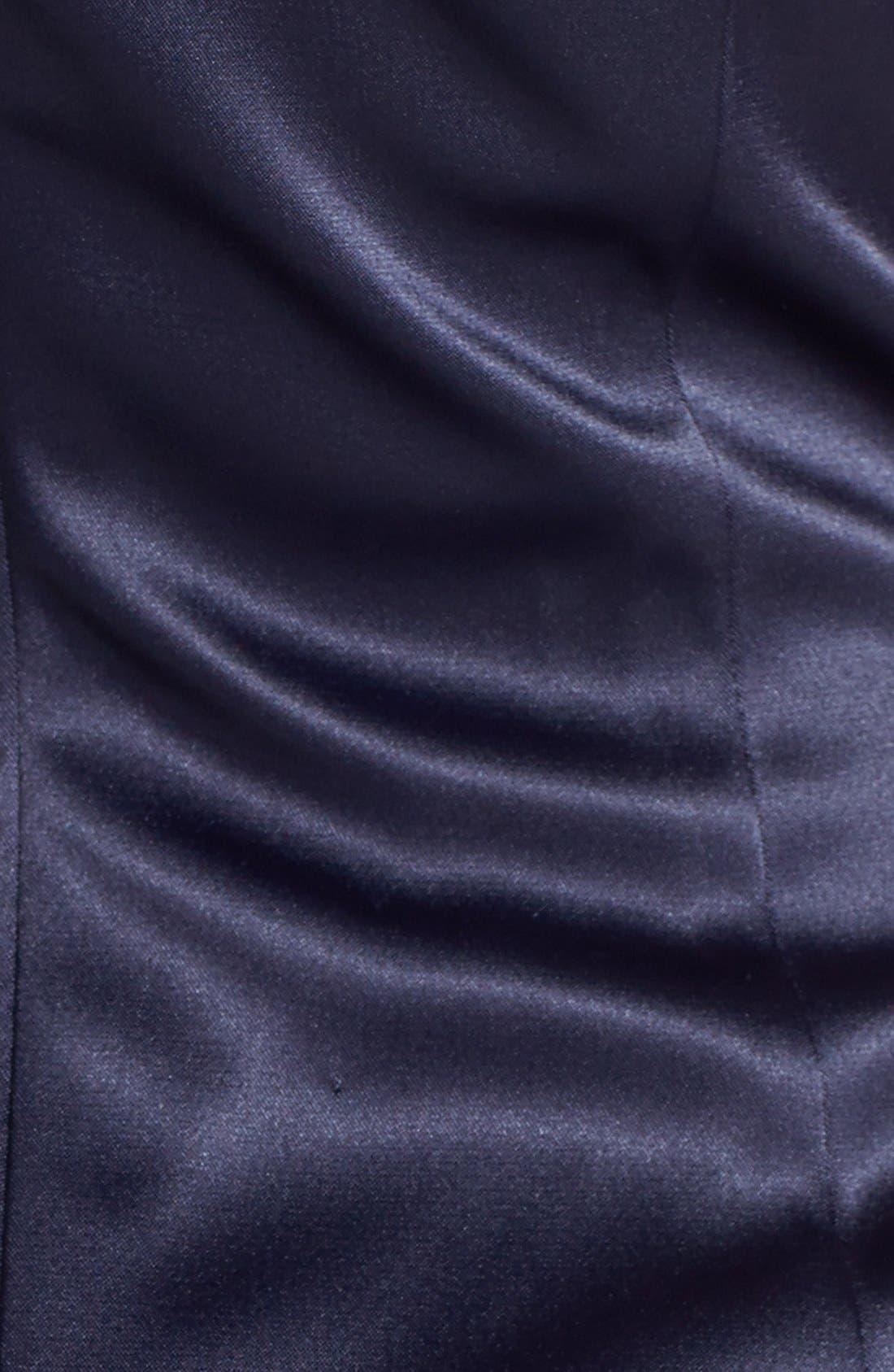 Beaded One-Shoulder Satin Dress,                             Alternate thumbnail 16, color,