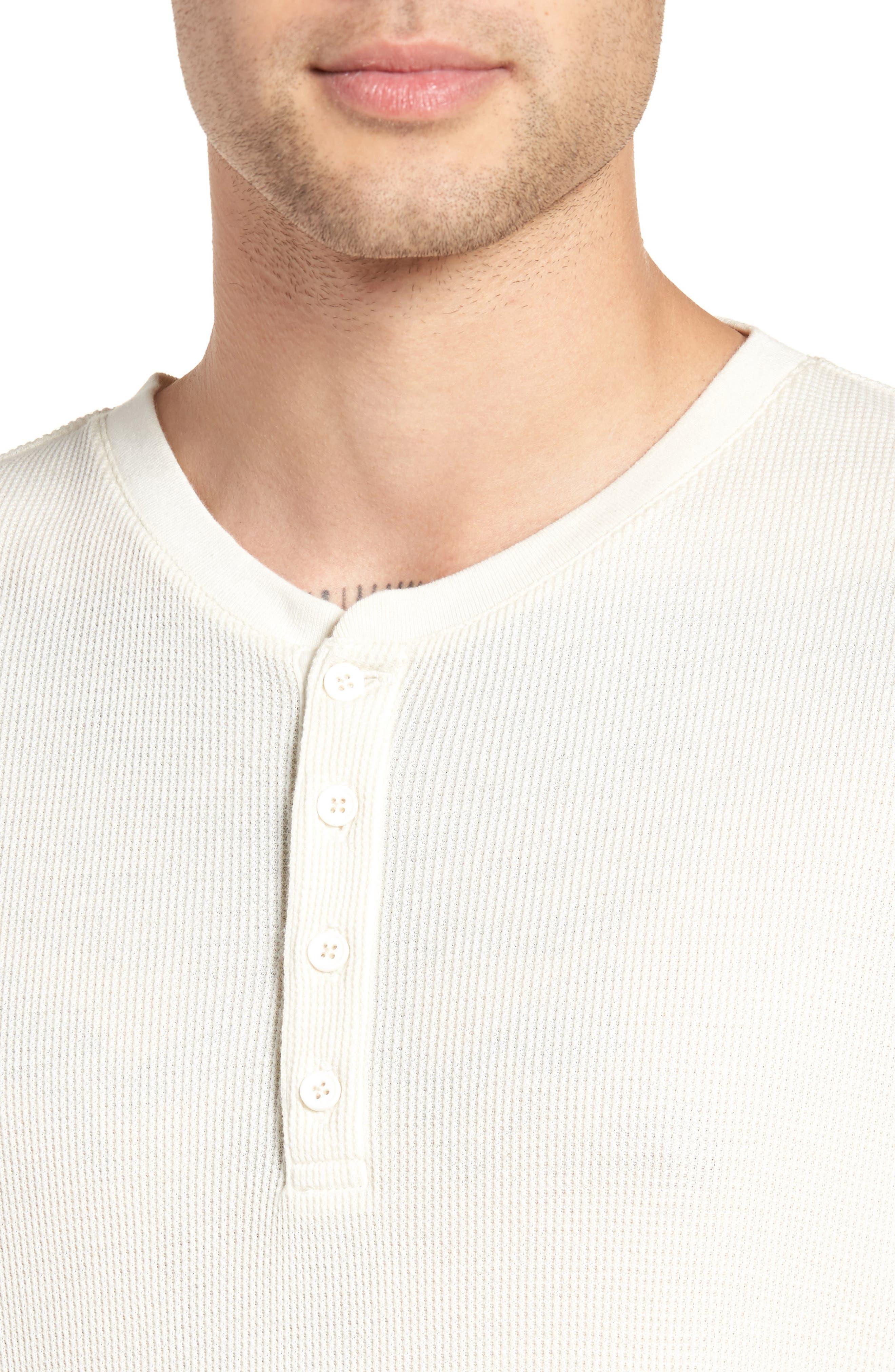 Thermal Knit Long Sleeve Henley T-Shirt,                             Alternate thumbnail 4, color,                             101