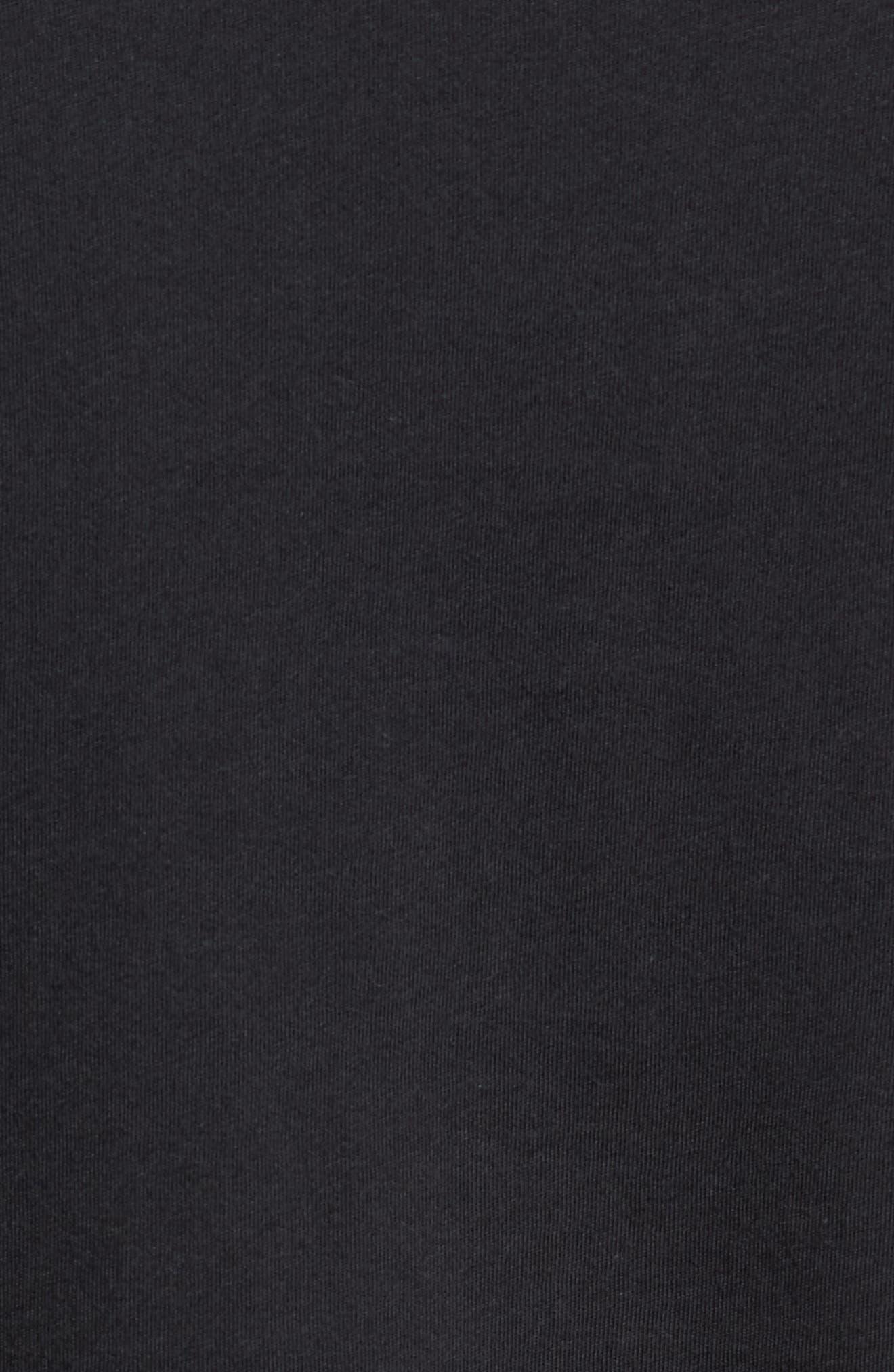 Geologers Organic Cotton T-Shirt,                             Alternate thumbnail 5, color,                             BLACK