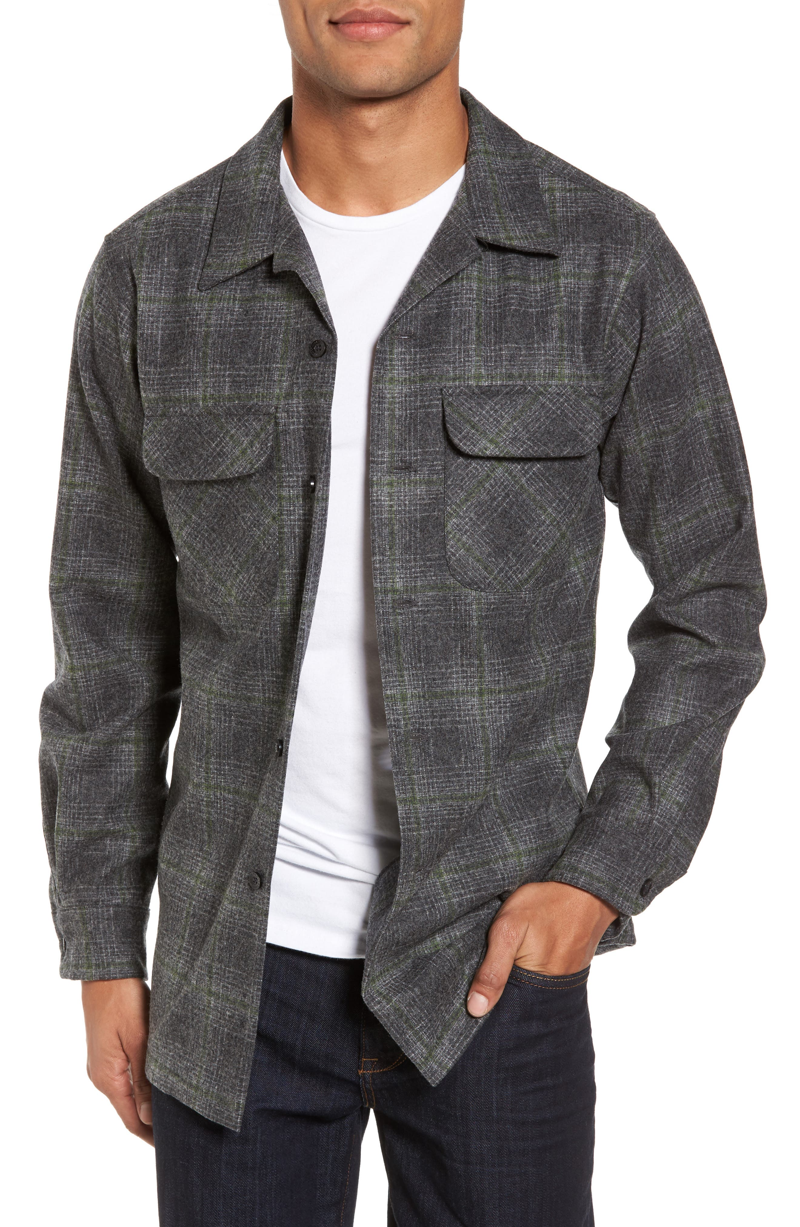 'Board' Regular Fit Flannel Shirt,                         Main,                         color, 031