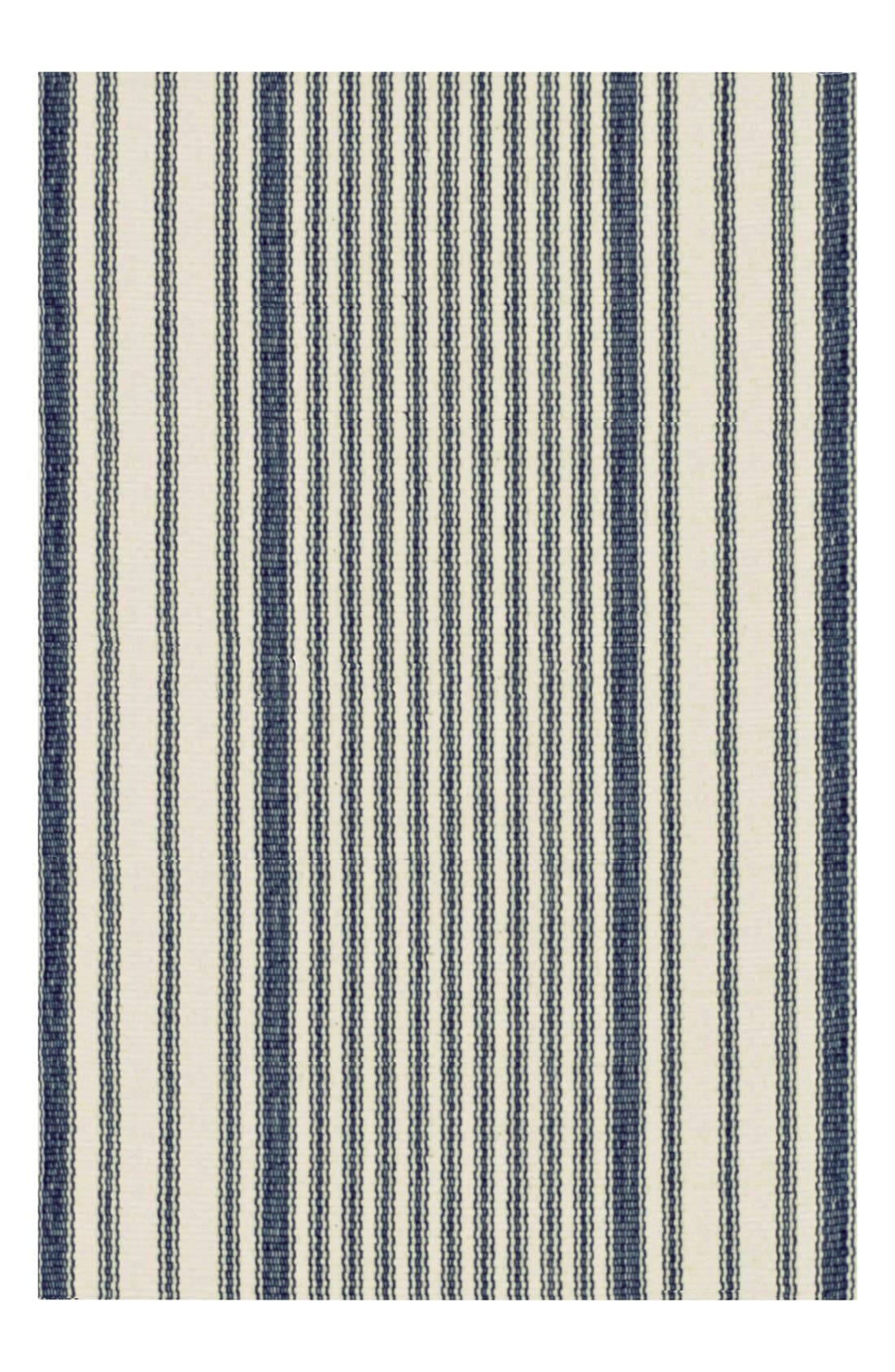 Stripe Ticking Rug,                             Main thumbnail 1, color,                             BLUE/ MULTI