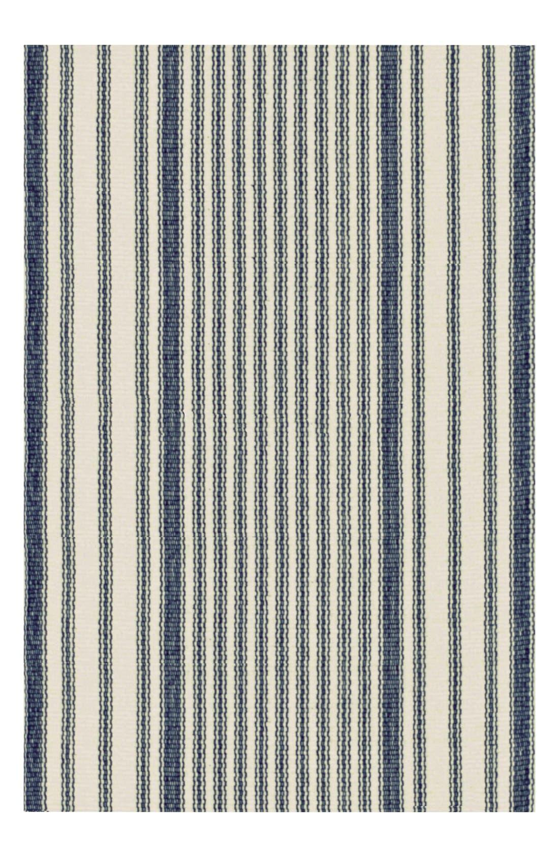 Stripe Ticking Rug,                         Main,                         color, BLUE/ MULTI