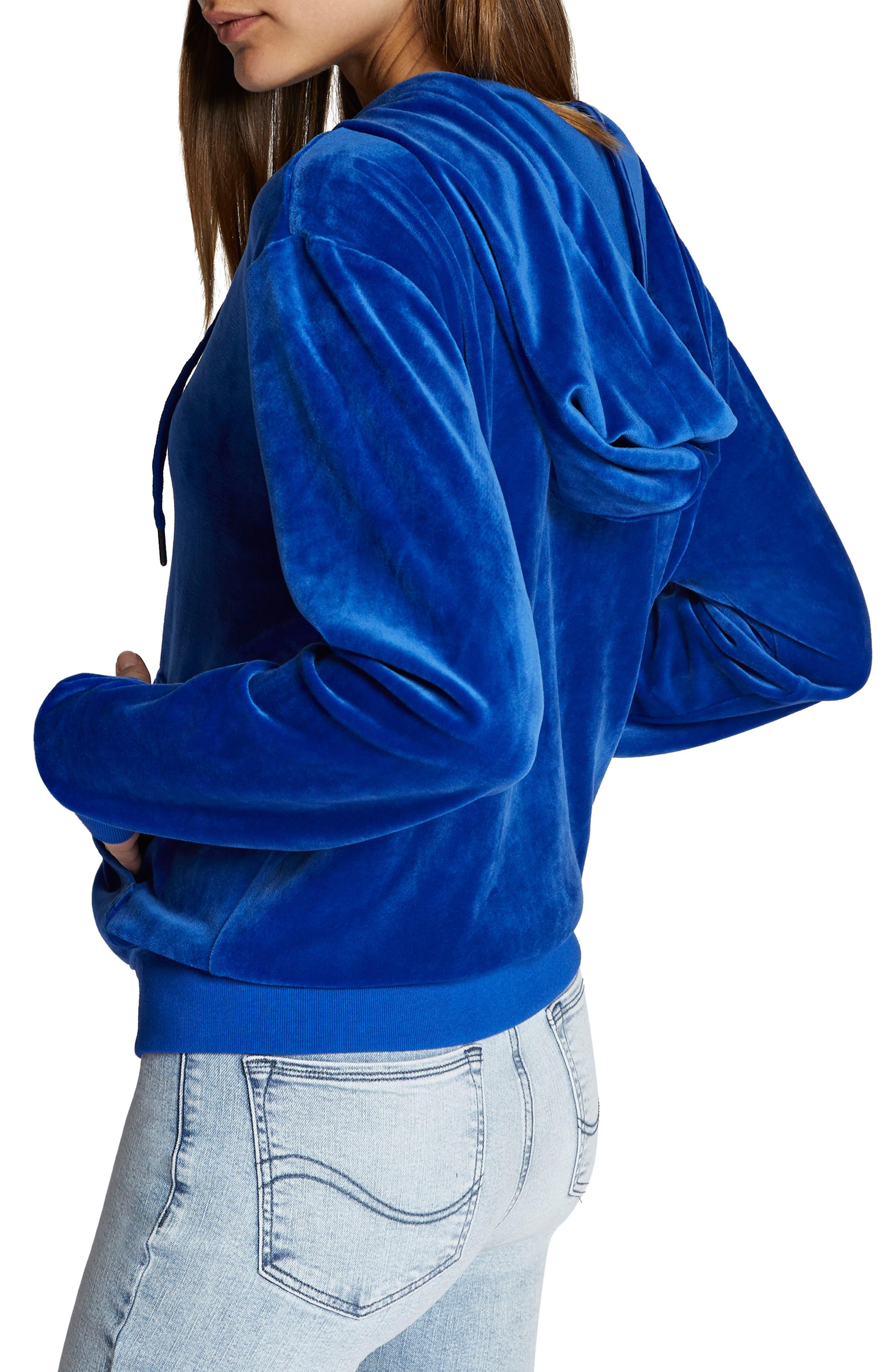 Melrose Raisin Hooded Jacket,                             Alternate thumbnail 3, color,                             ELECTRIC BLUE