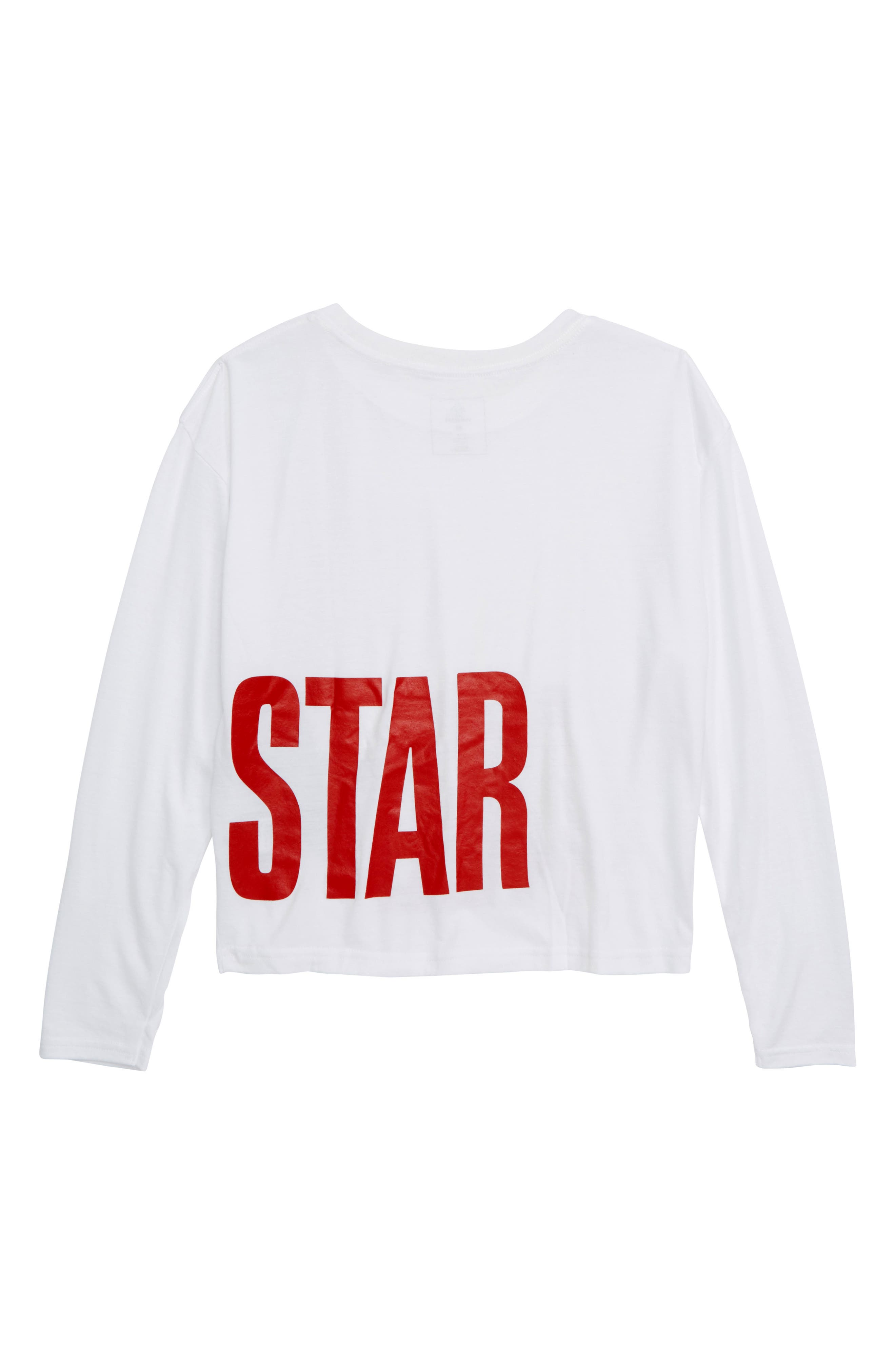 All Star<sup>®</sup> Oversize Long Sleeve Tee,                             Alternate thumbnail 2, color,                             WHITE