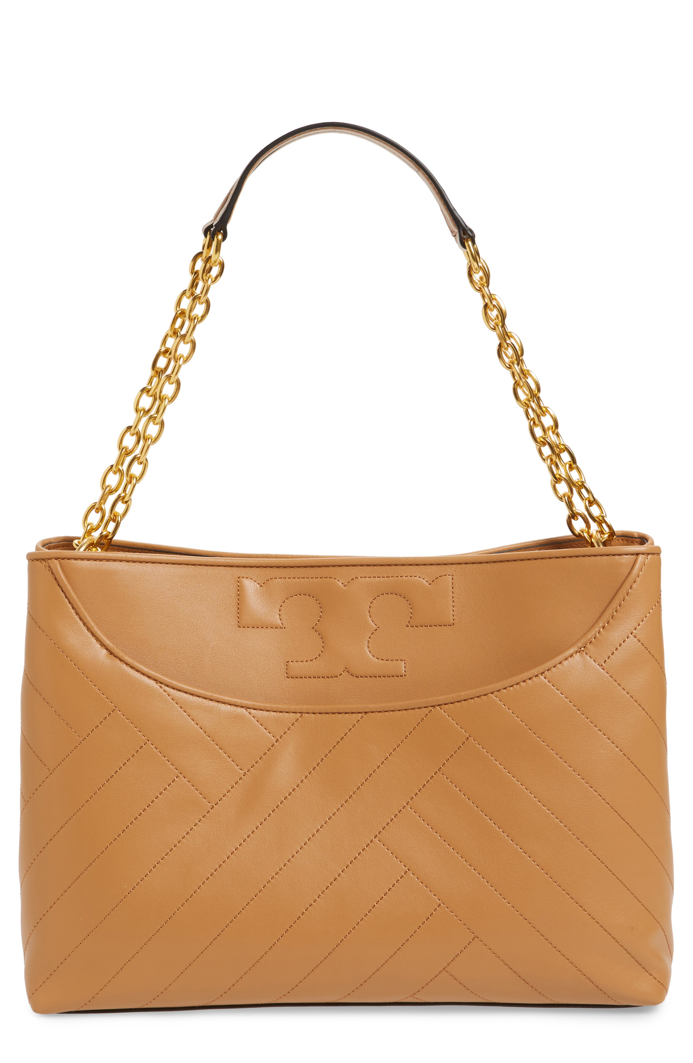 TORY BURCH Alexa Leather Tote, Main, color, 200