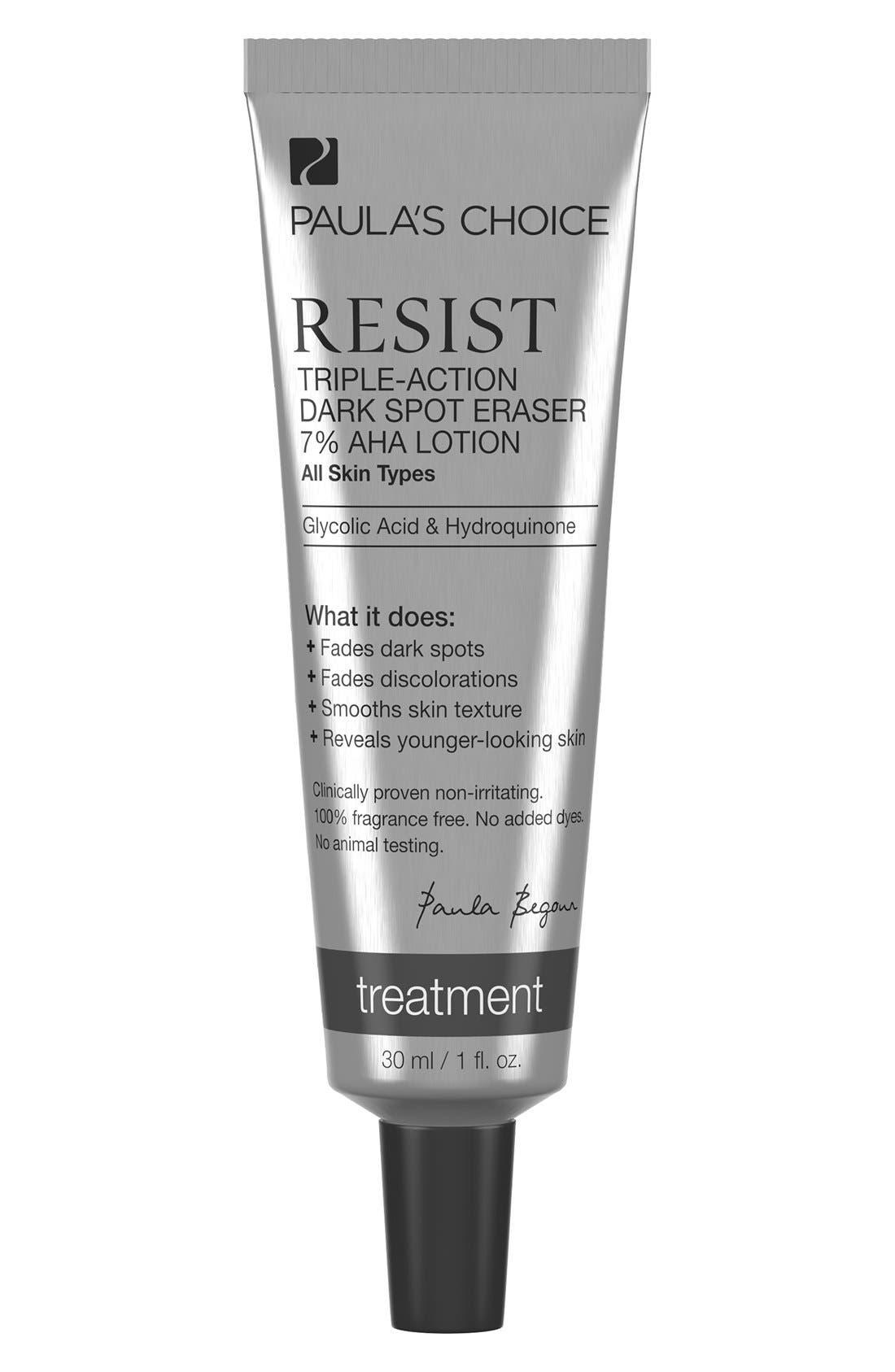 Resist Triple-Action Dark Spot Eraser 7% AHA Lotion,                             Main thumbnail 1, color,                             NO COLOR