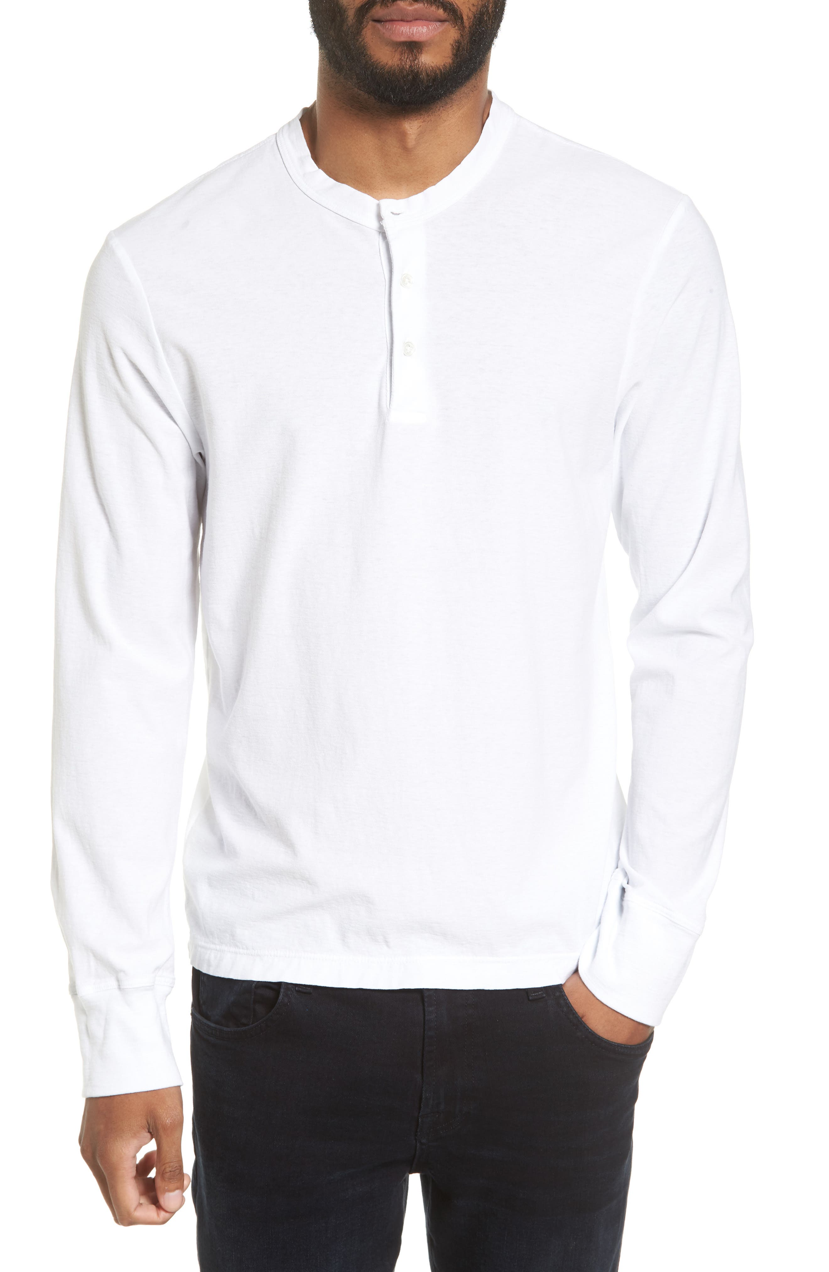 Classic High Twist Jersey Henley,                         Main,                         color, 100