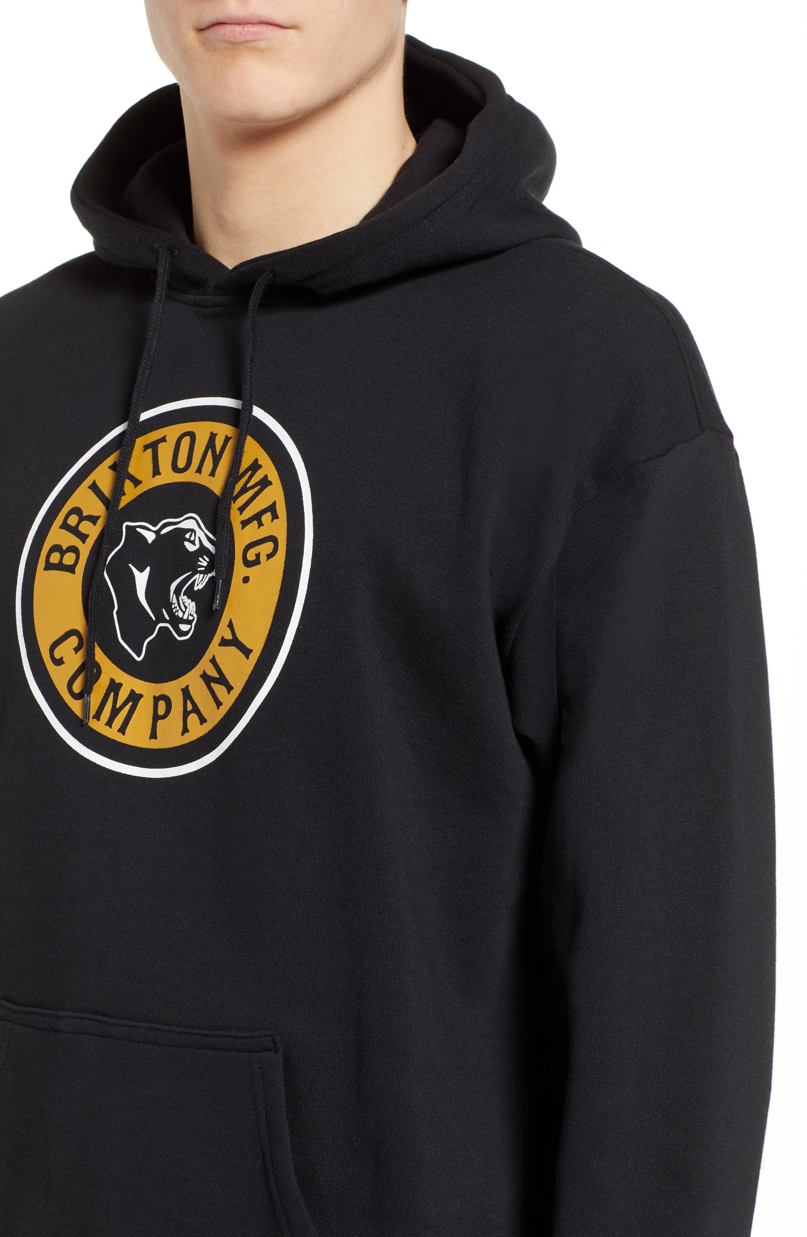 Forte Hooded Sweatshirt,                             Alternate thumbnail 4, color,                             BLACK
