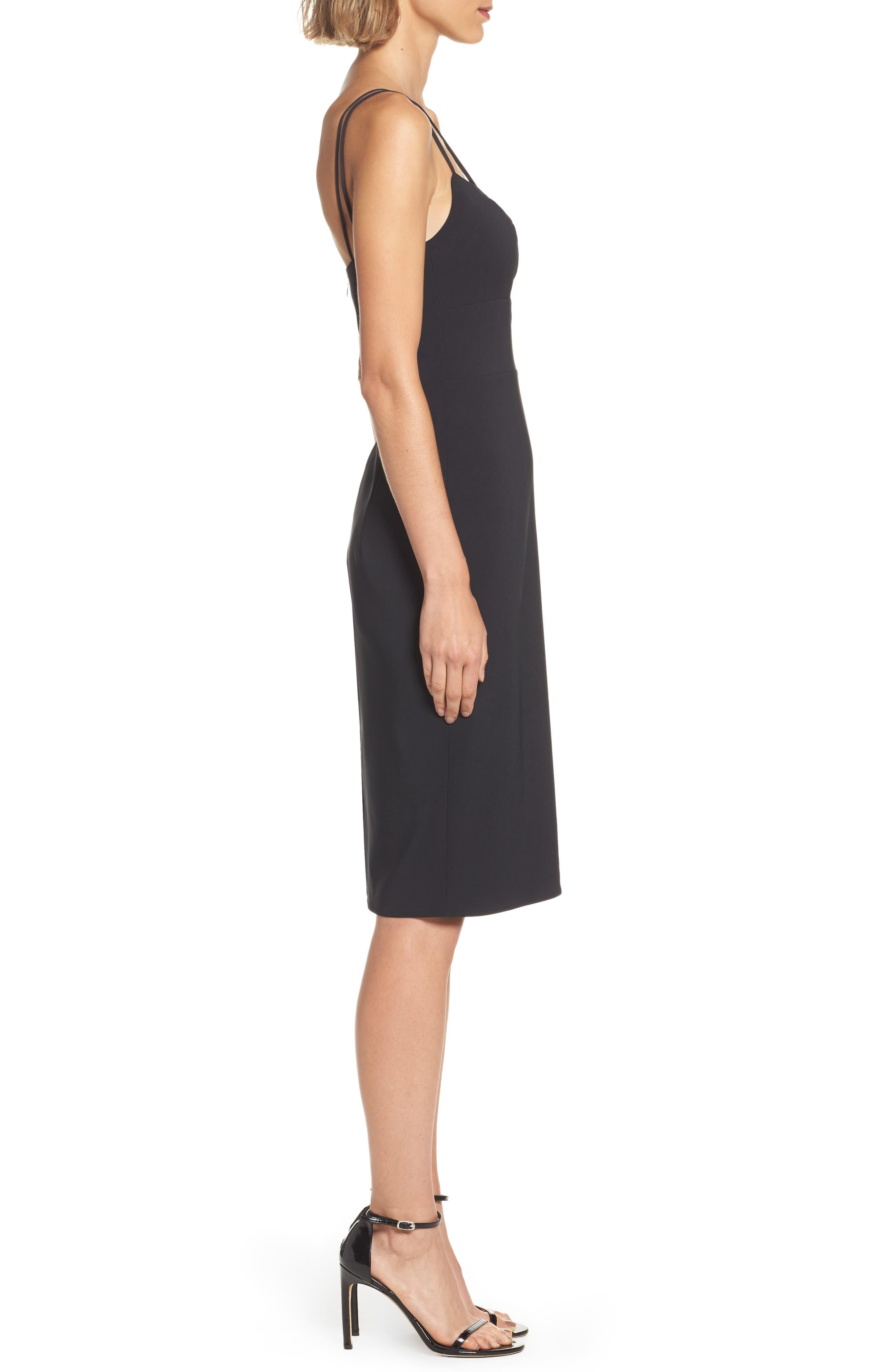 Lace Front Sheath Dress,                             Alternate thumbnail 2, color,                             001