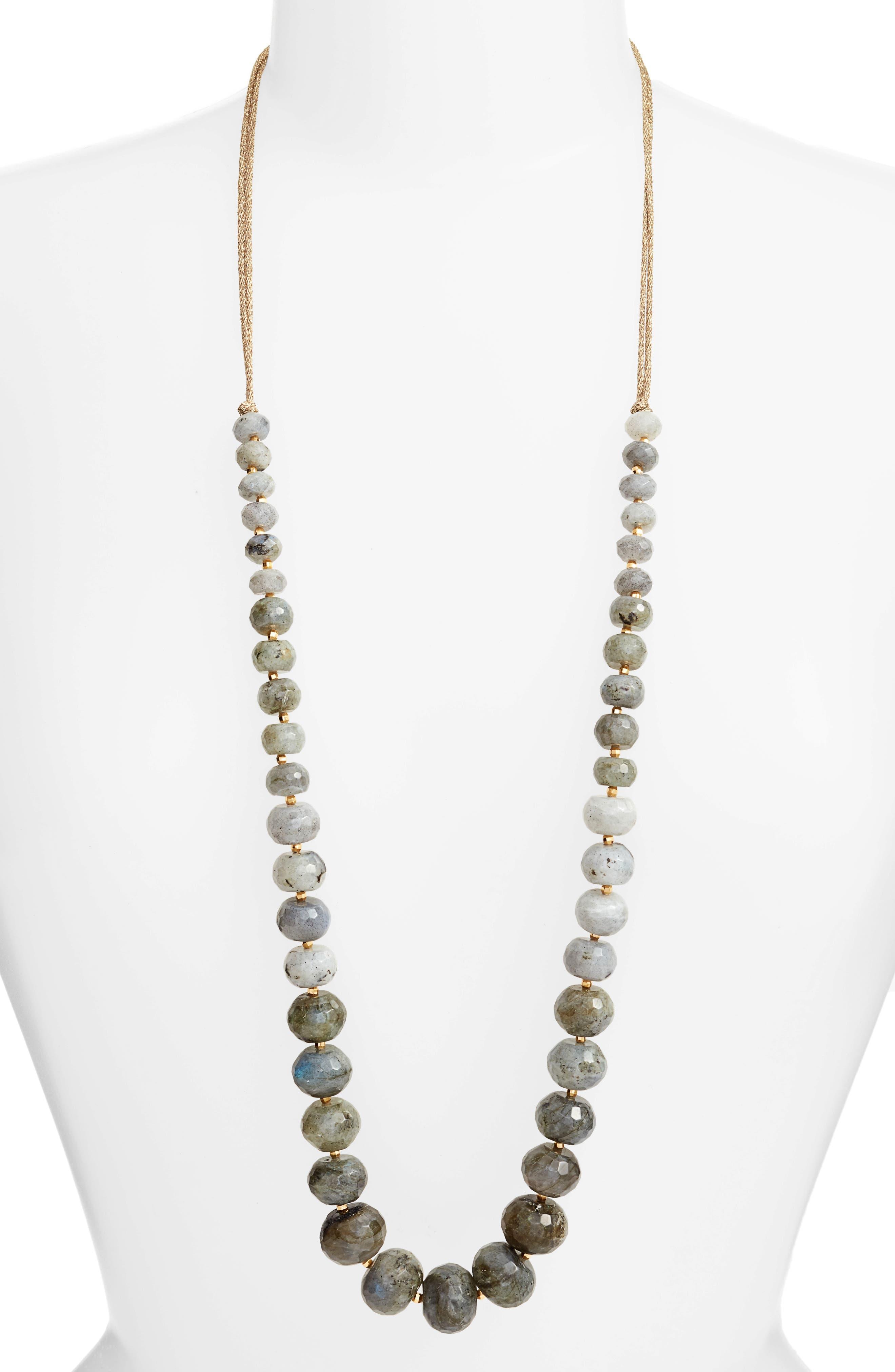 Graduated Semiprecious Stone Necklace,                         Main,                         color, 020