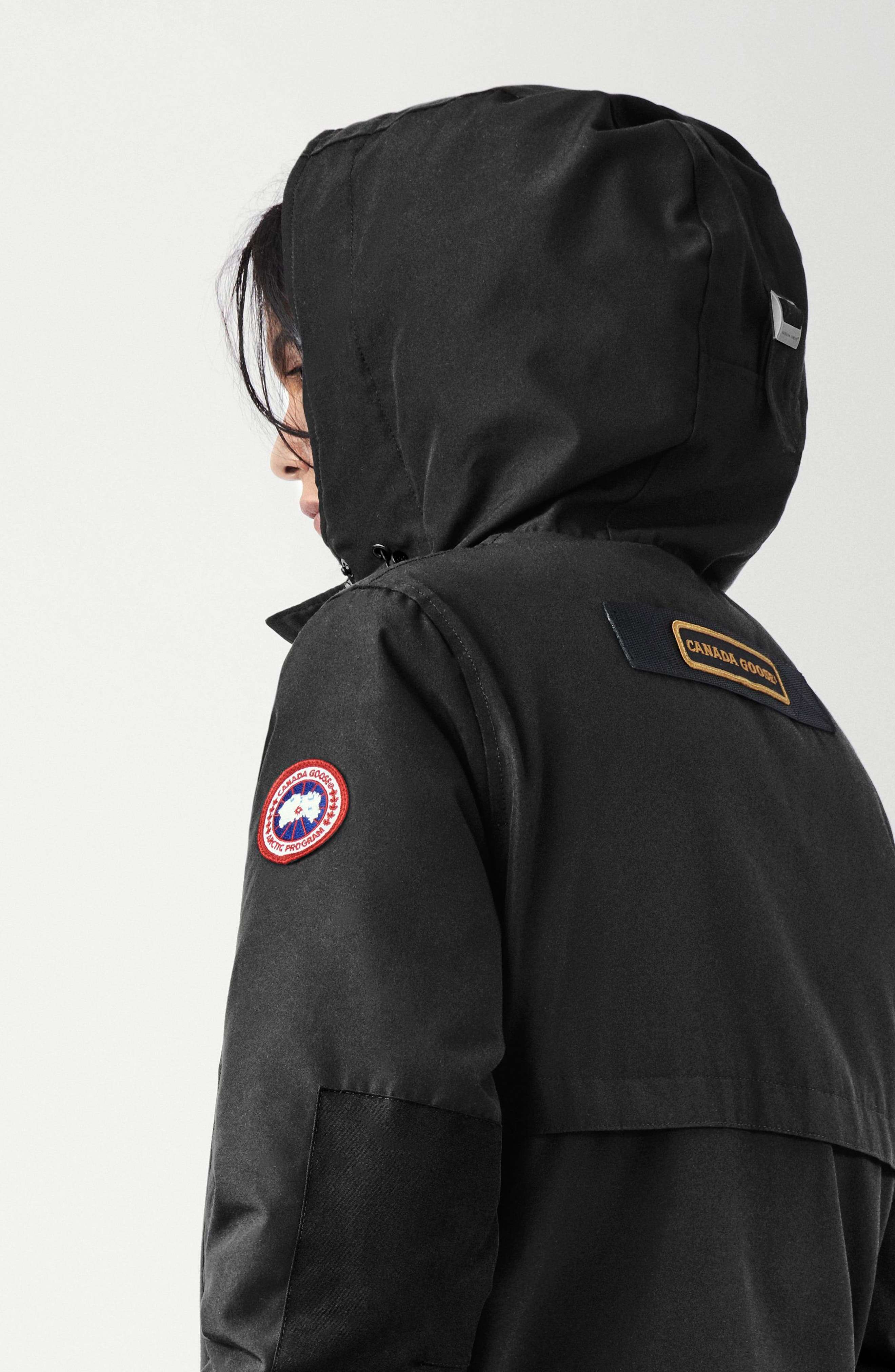 CANADA GOOSE,                             Canmore 625 Fill Power Down Parka,                             Alternate thumbnail 3, color,                             BLACK