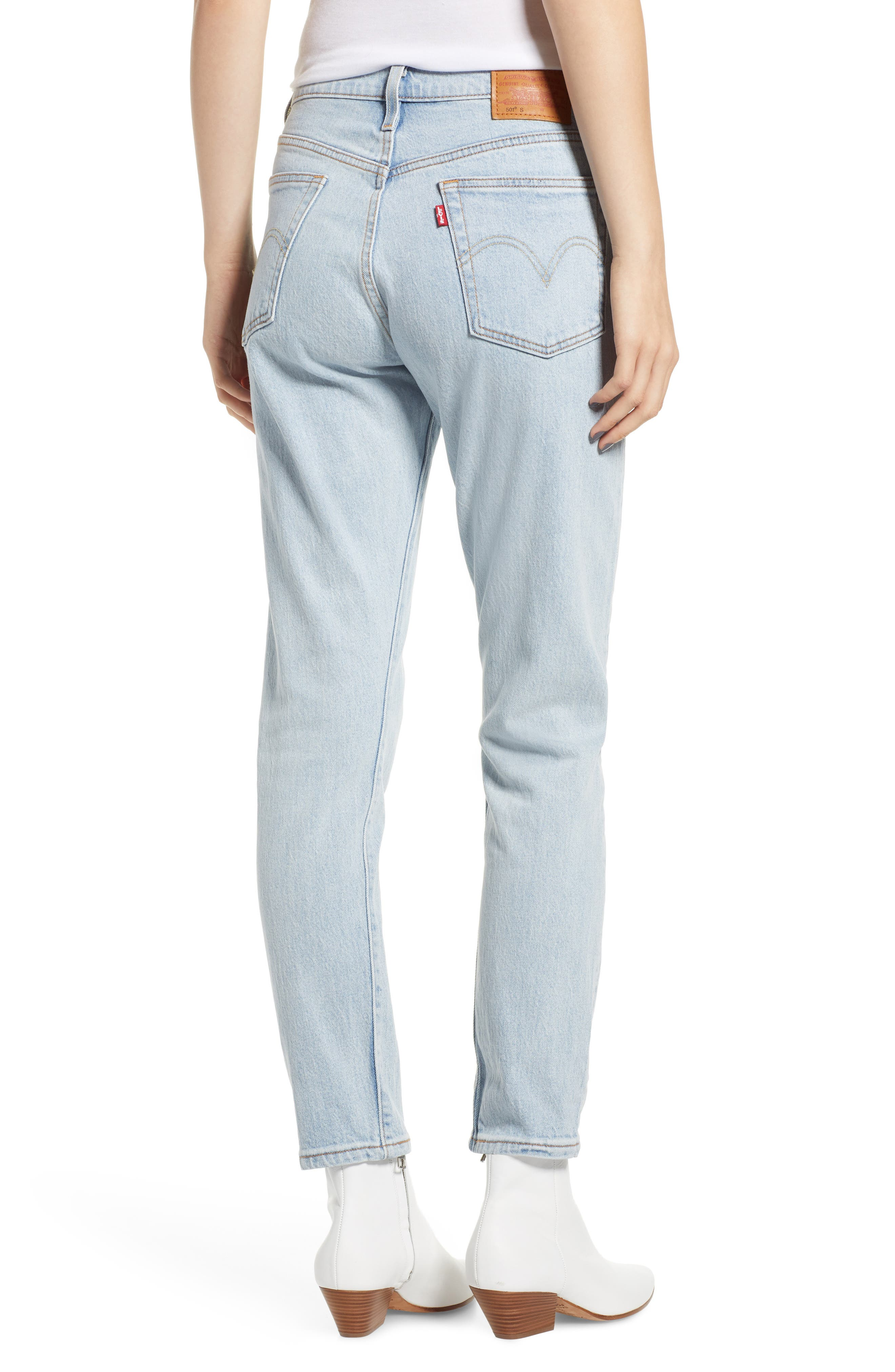 501<sup>®</sup> Ankle Slim Jeans,                             Alternate thumbnail 2, color,                             450