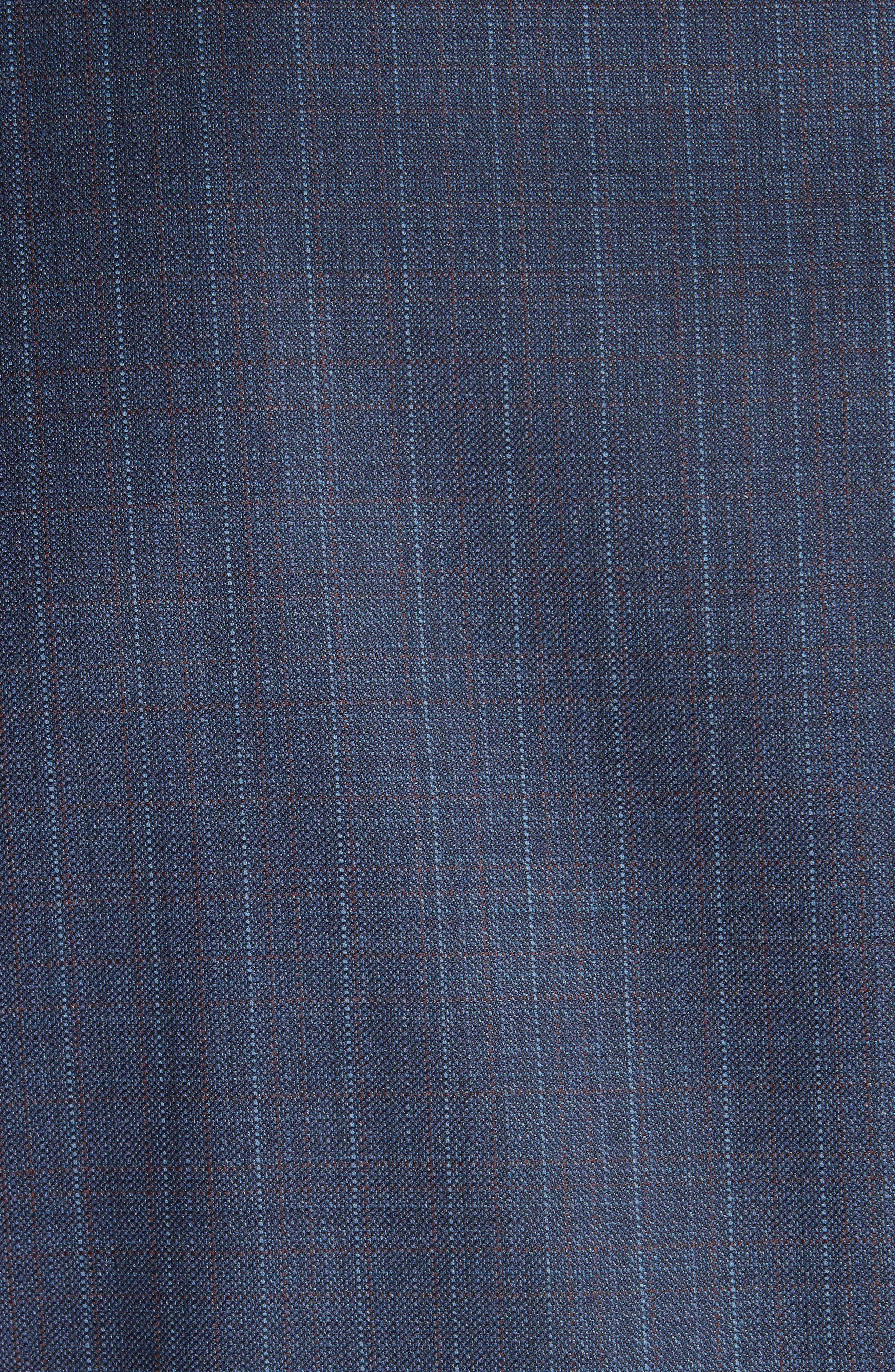 Classic Fit Stripe Wool Suit,                             Alternate thumbnail 6, color,                             400
