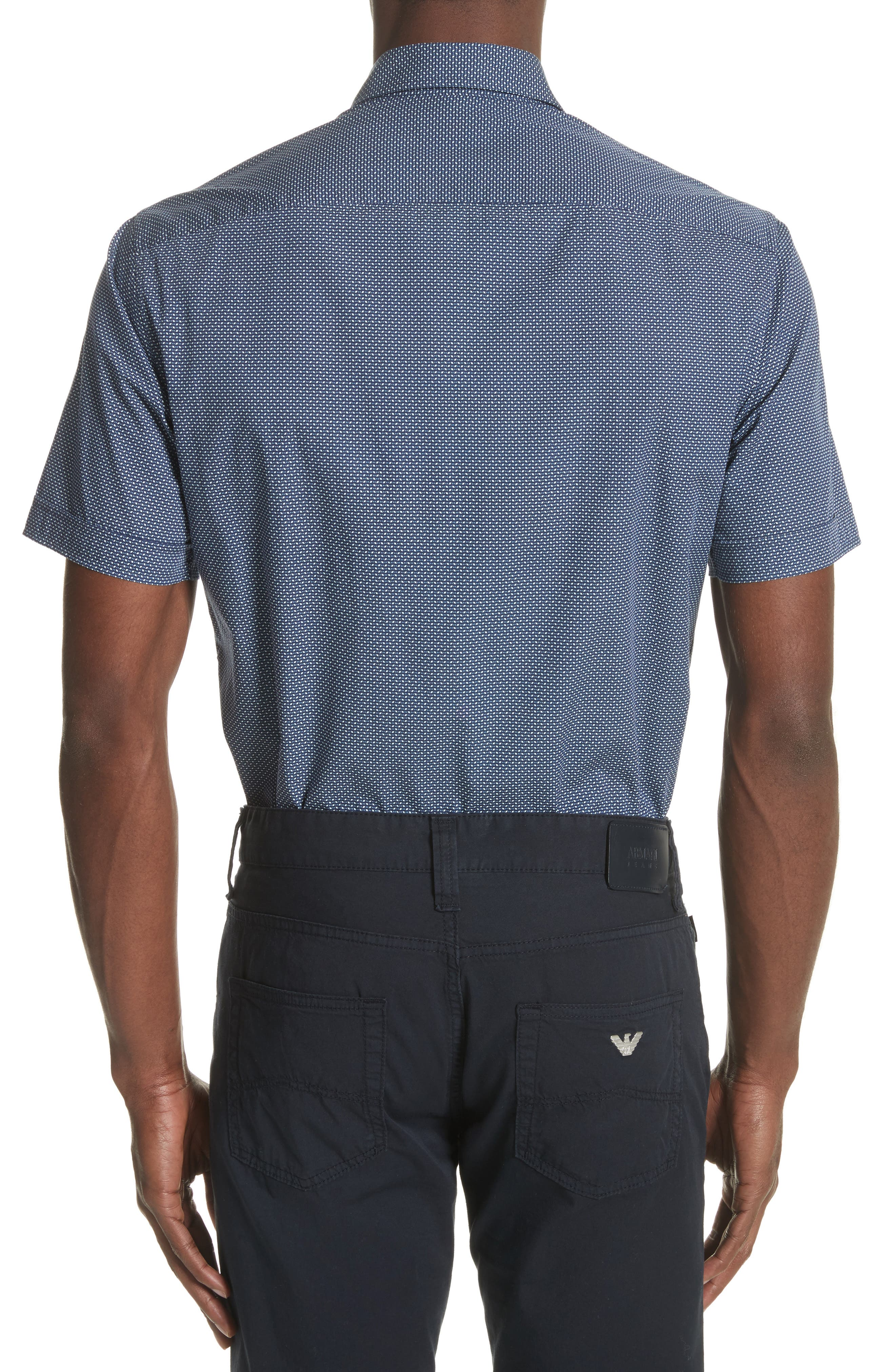 Regular Fit Geometric Print Sport Shirt,                             Alternate thumbnail 2, color,
