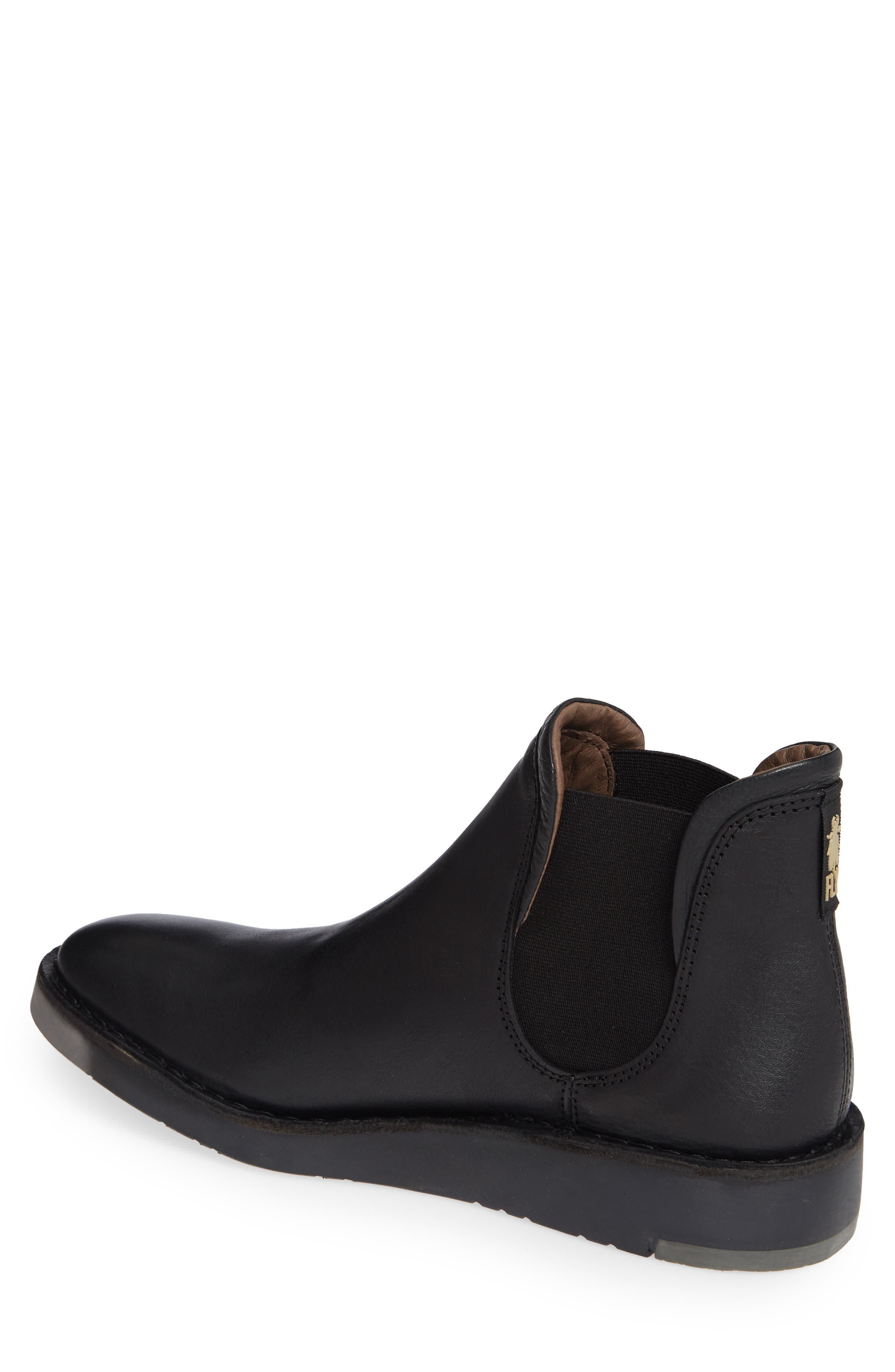 Sern Water Resistant Chelsea Boot,                             Alternate thumbnail 2, color,                             BLACK APSO