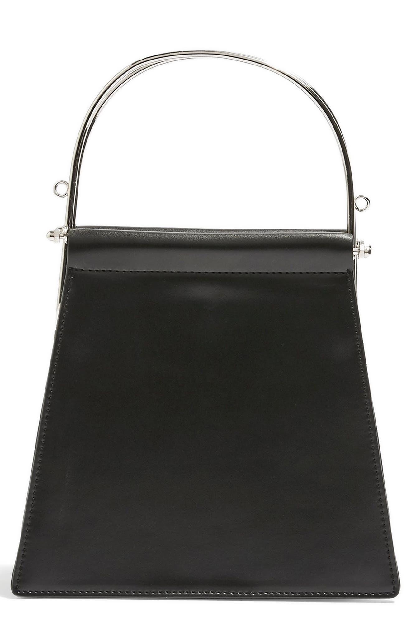 TOPSHOP Lola Top Handle Bag, Main, color, BLACK