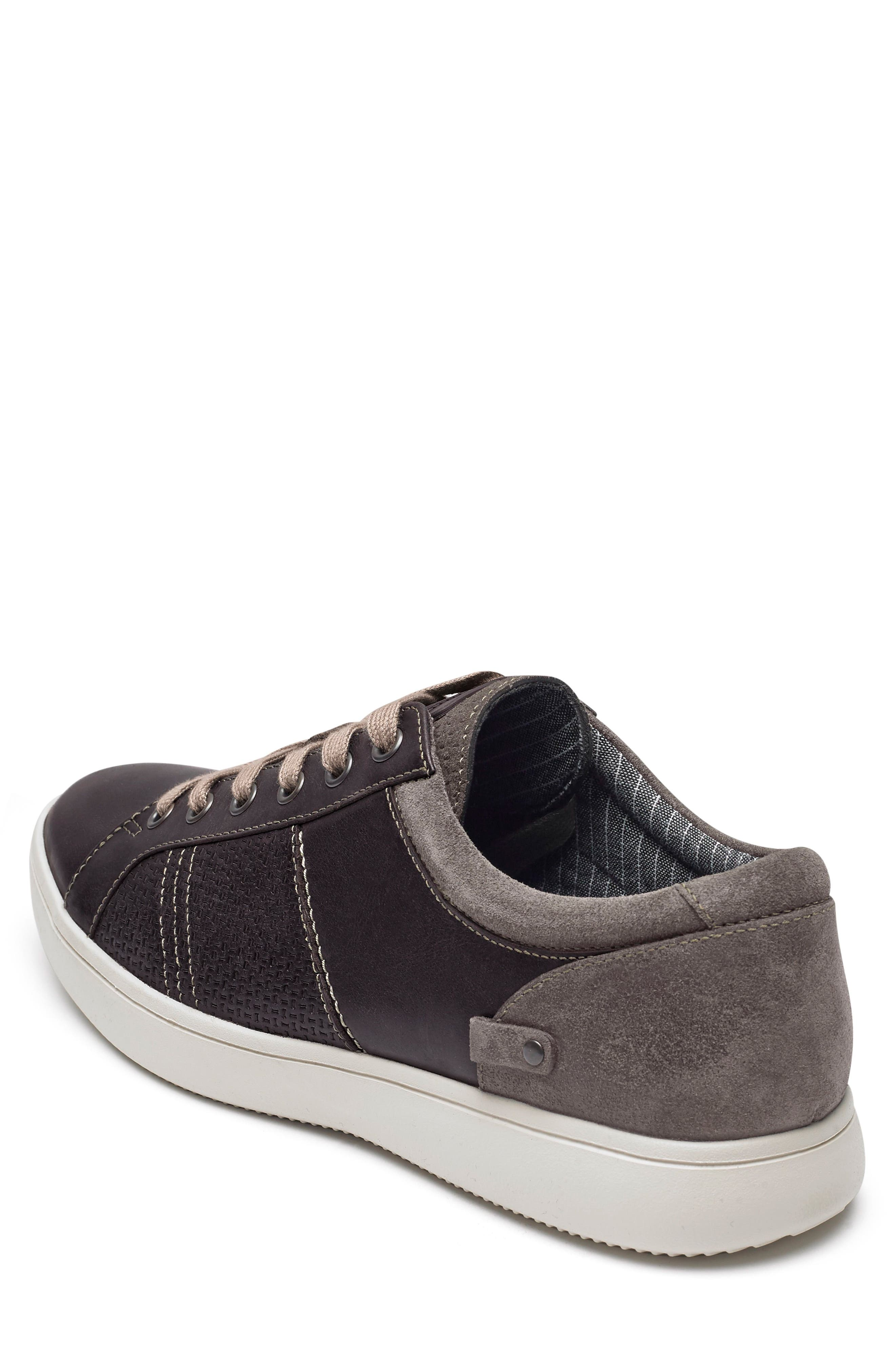 Colle Textured Sneaker,                             Alternate thumbnail 2, color,                             COFFEE LEATHER