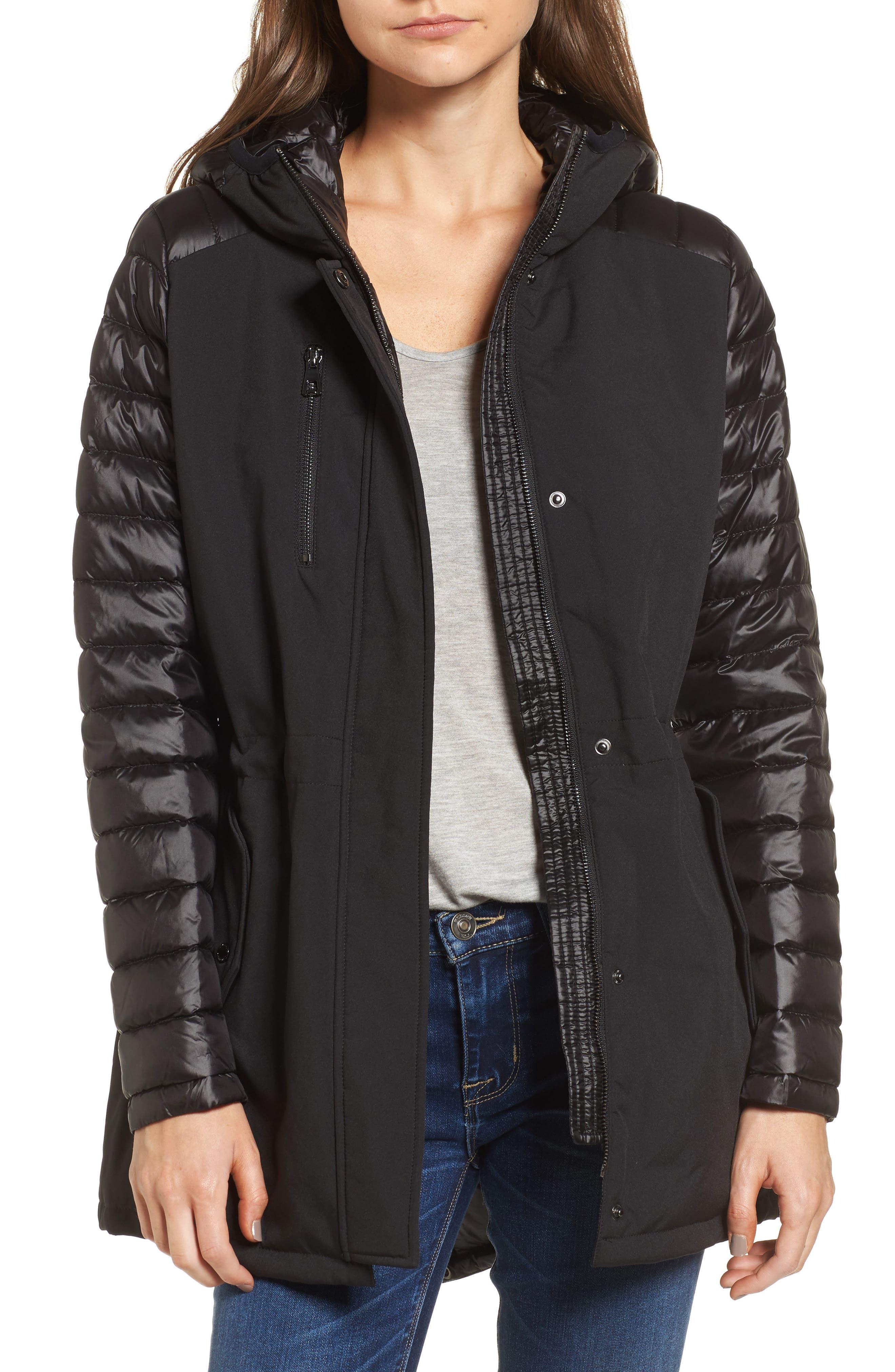 Mixed Media Soft Shell Jacket,                         Main,                         color, 001