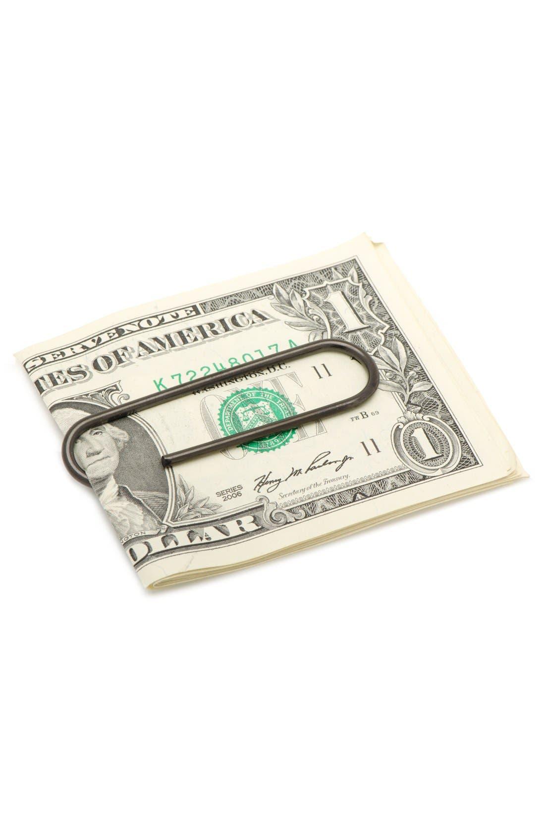 Paper Clip Money Clip,                             Alternate thumbnail 2, color,                             BLACK