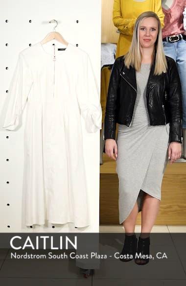 Zip Front Linen Blend Dress, sales video thumbnail