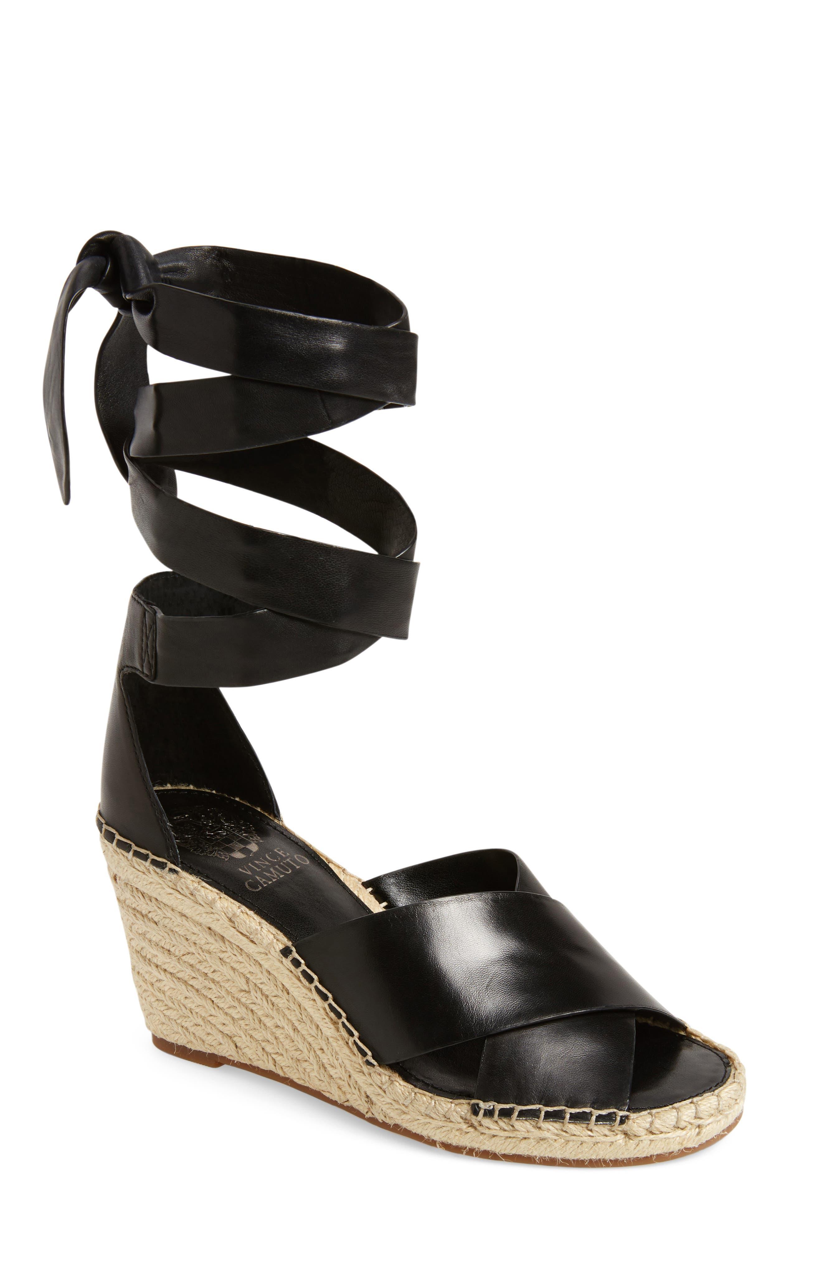 Leddy Wedge Sandal,                         Main,                         color, 001