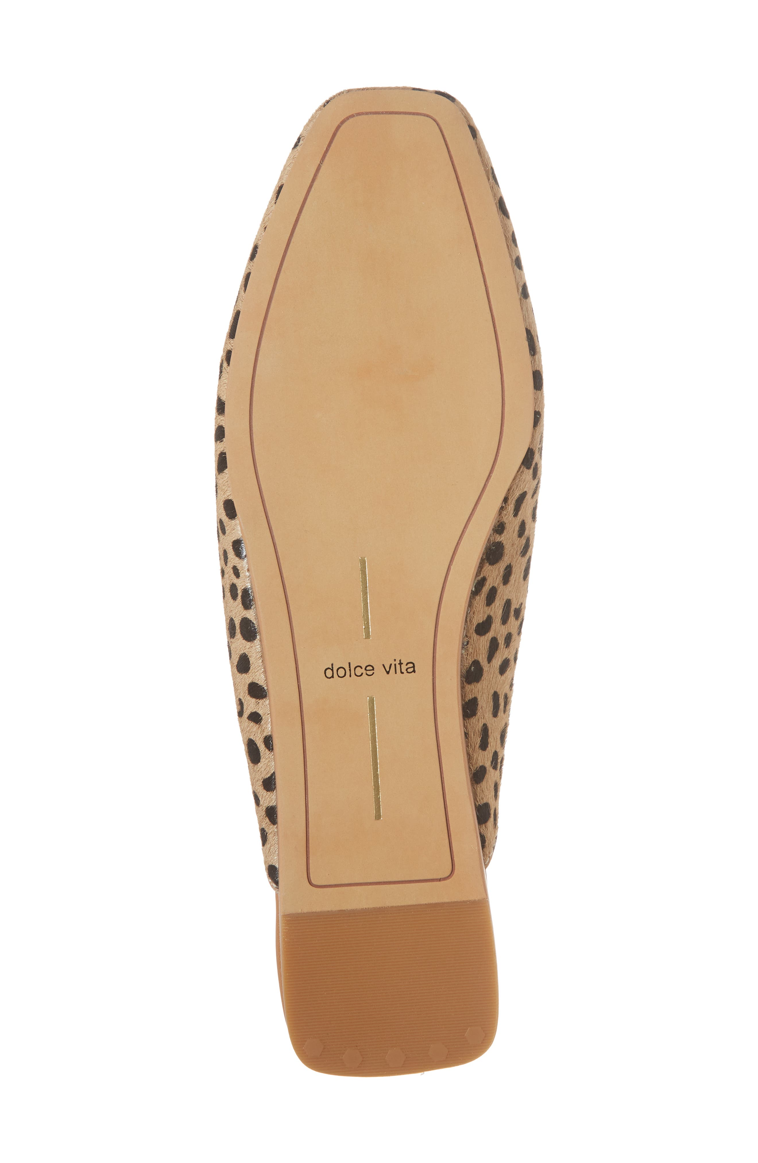 Brie Flat Mule,                             Alternate thumbnail 6, color,                             LEOPARD CALF HAIR