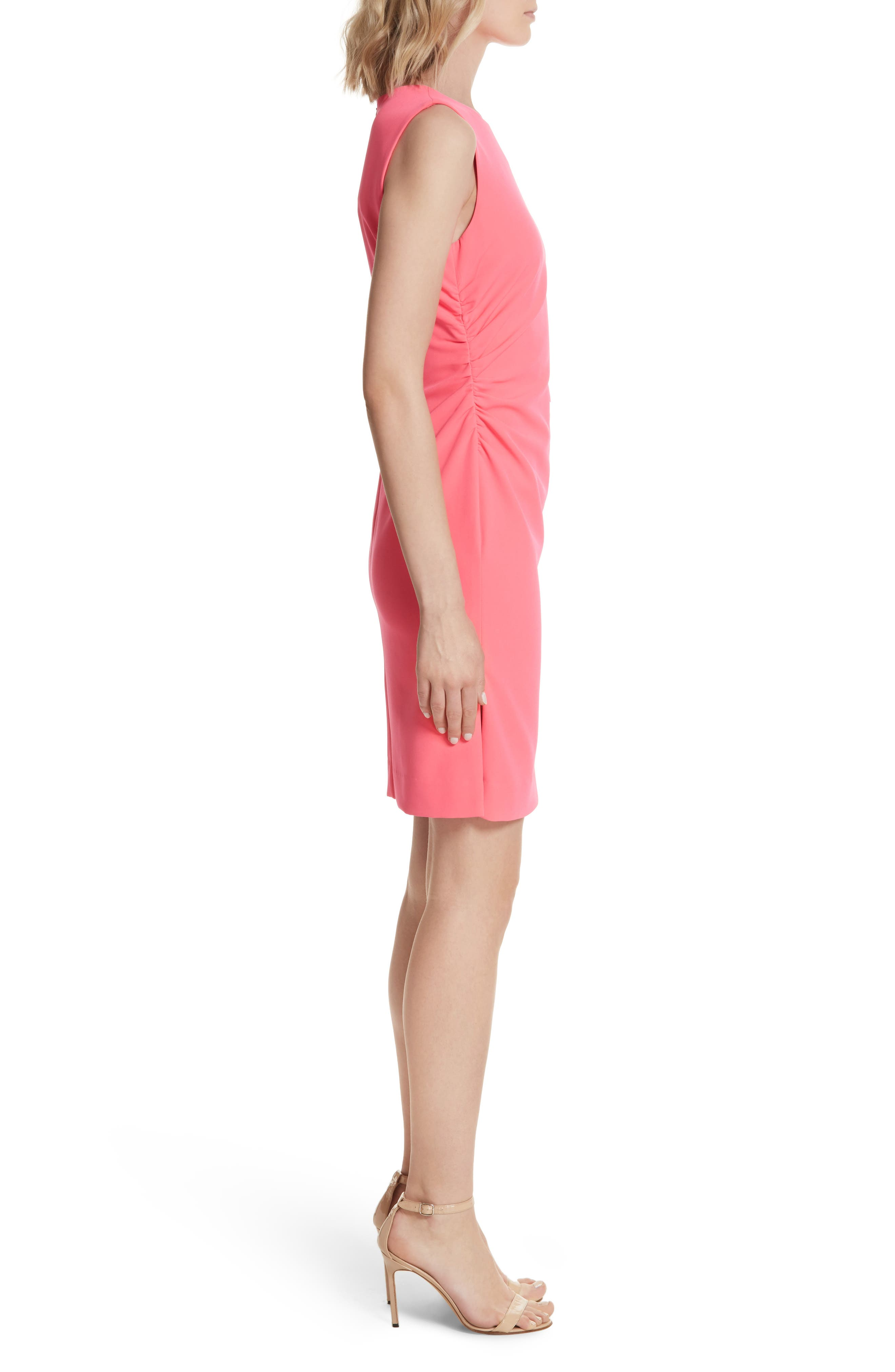 Sherry Ruched Sheath Dress,                             Alternate thumbnail 3, color,                             677