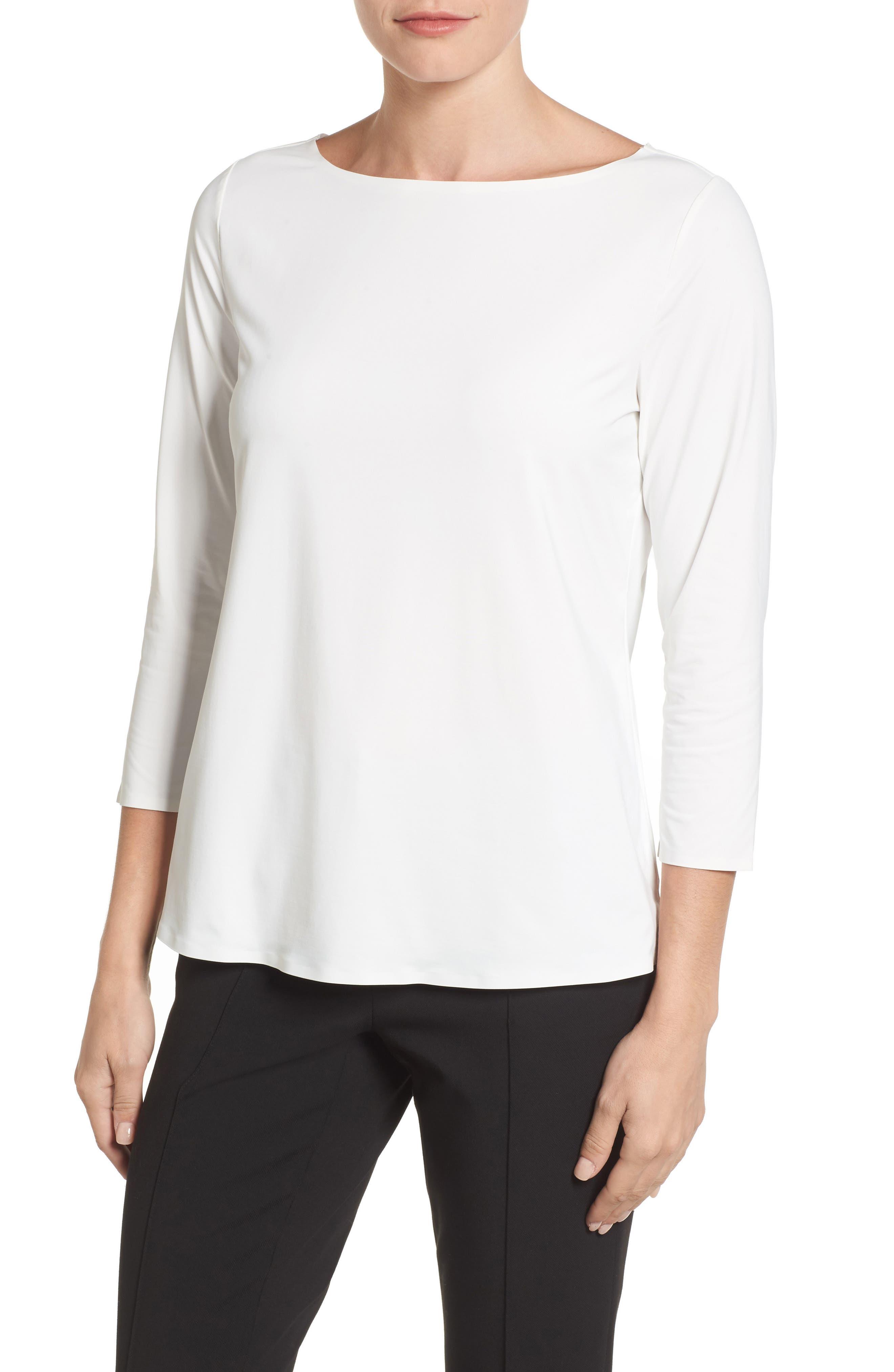 Three Quarter Sleeve Top,                         Main,                         color,