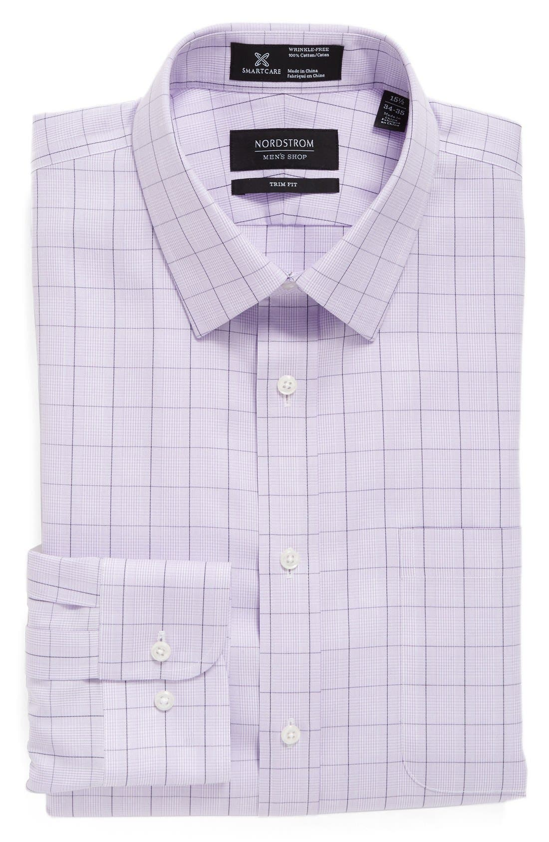 Smartcare<sup>™</sup> Trim Fit Plaid Dress Shirt,                             Main thumbnail 3, color,