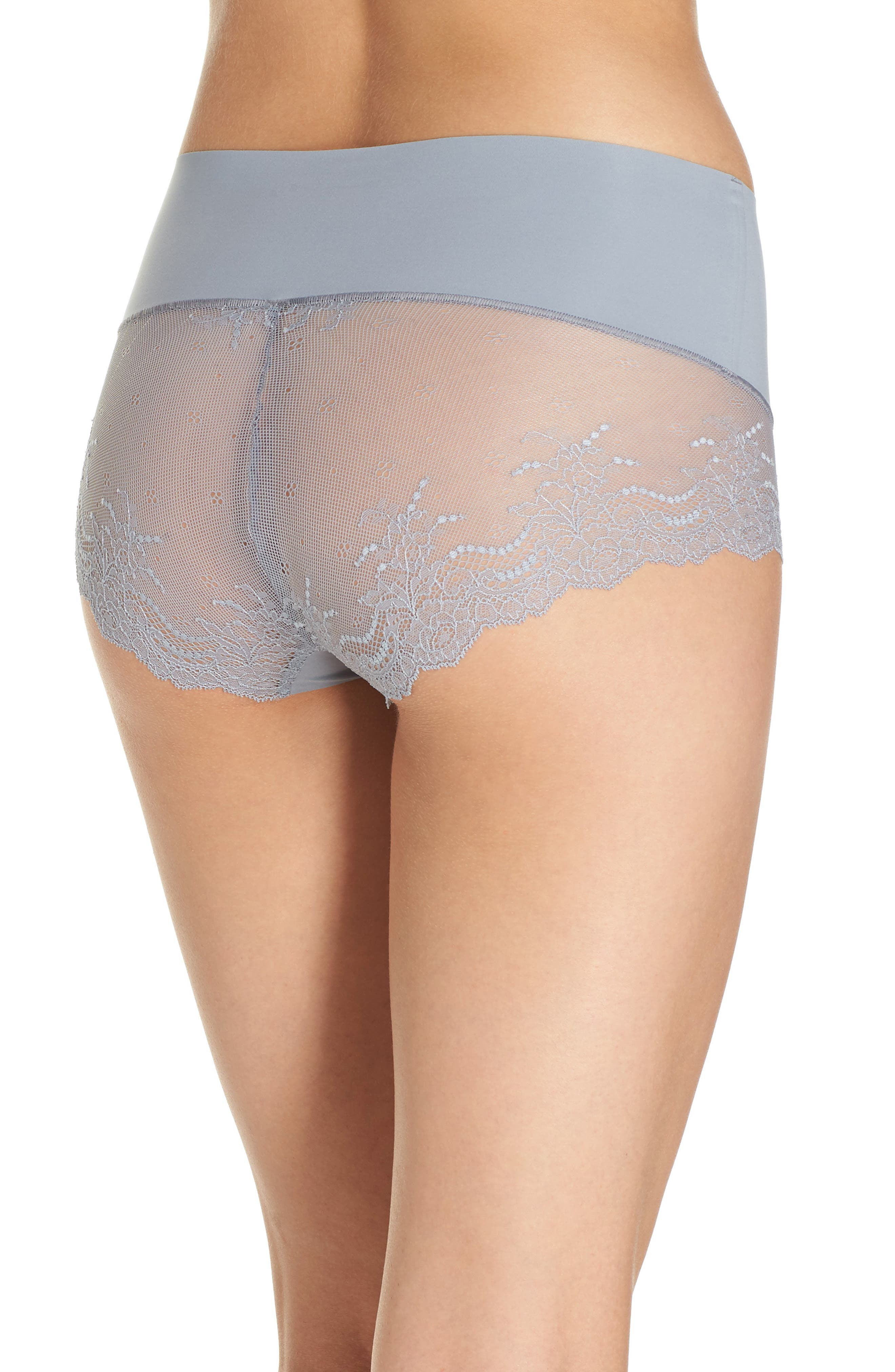 Undie-tectable Lace Hipster Panties,                             Alternate thumbnail 2, color,                             FOG GREY