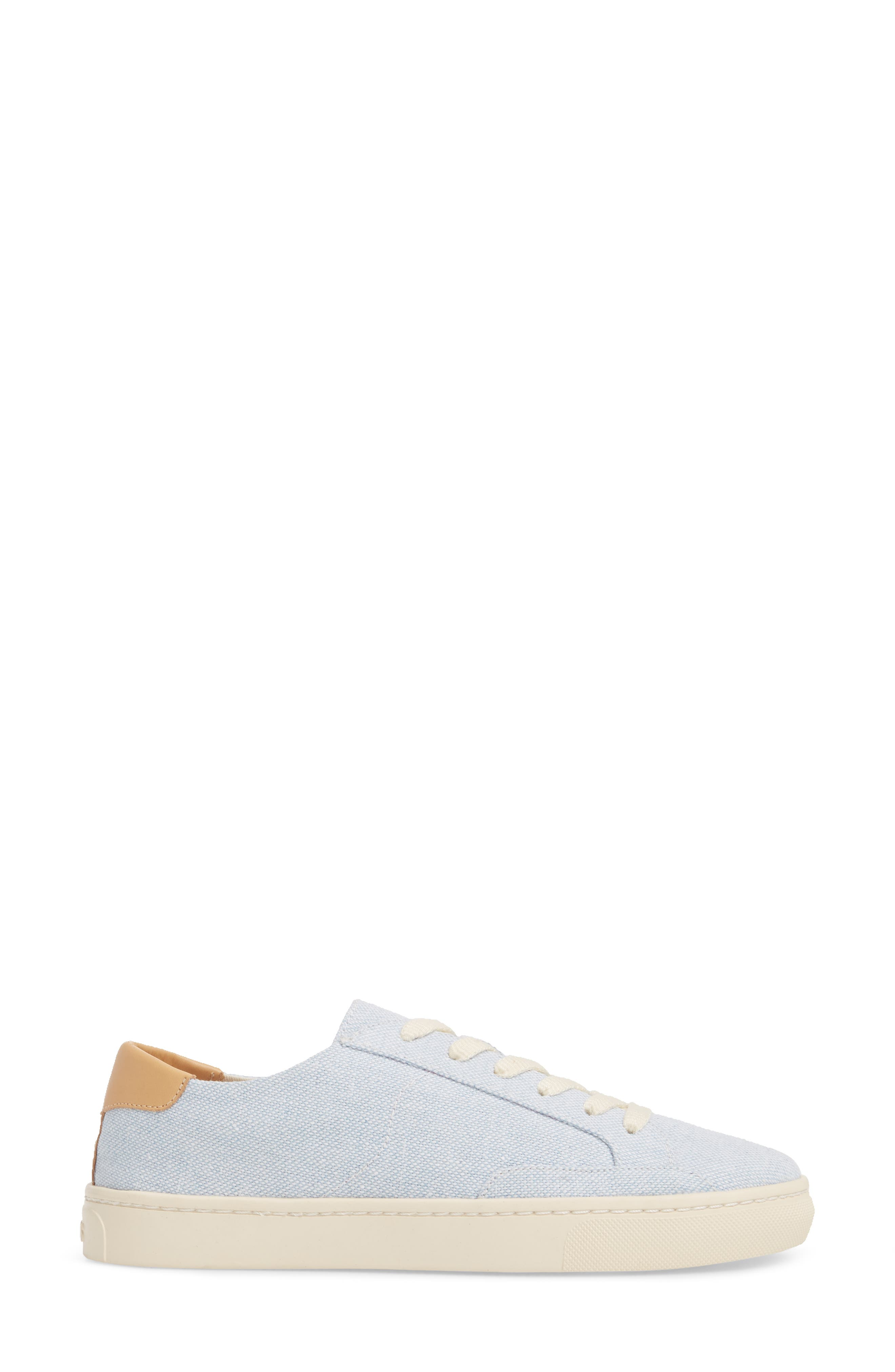 Ibiza Canvas Lace-Up Sneaker,                             Alternate thumbnail 3, color,                             SKY BLUE