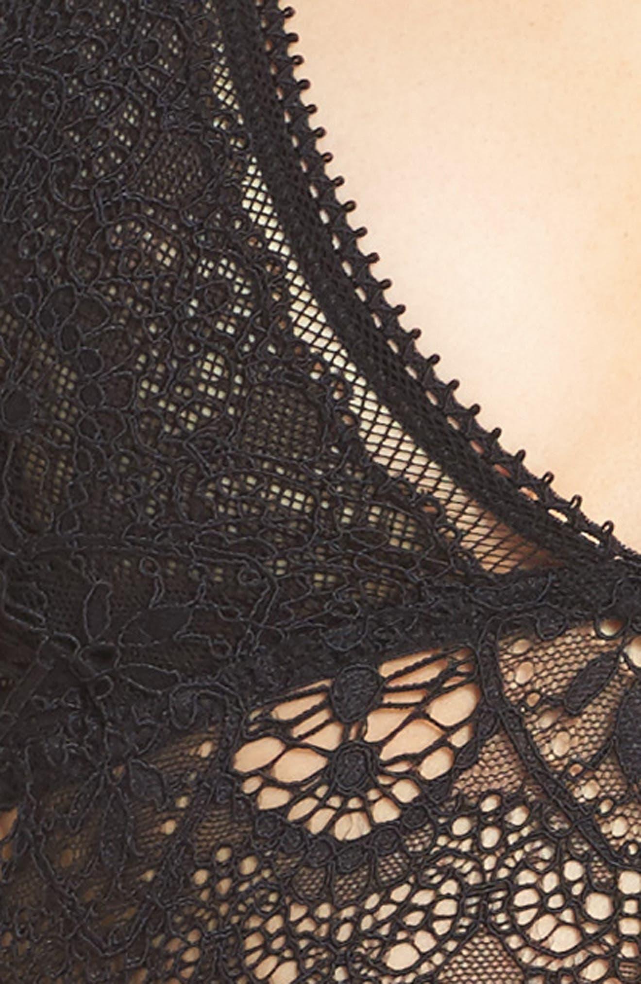 Lace Longline Bralette,                             Alternate thumbnail 18, color,