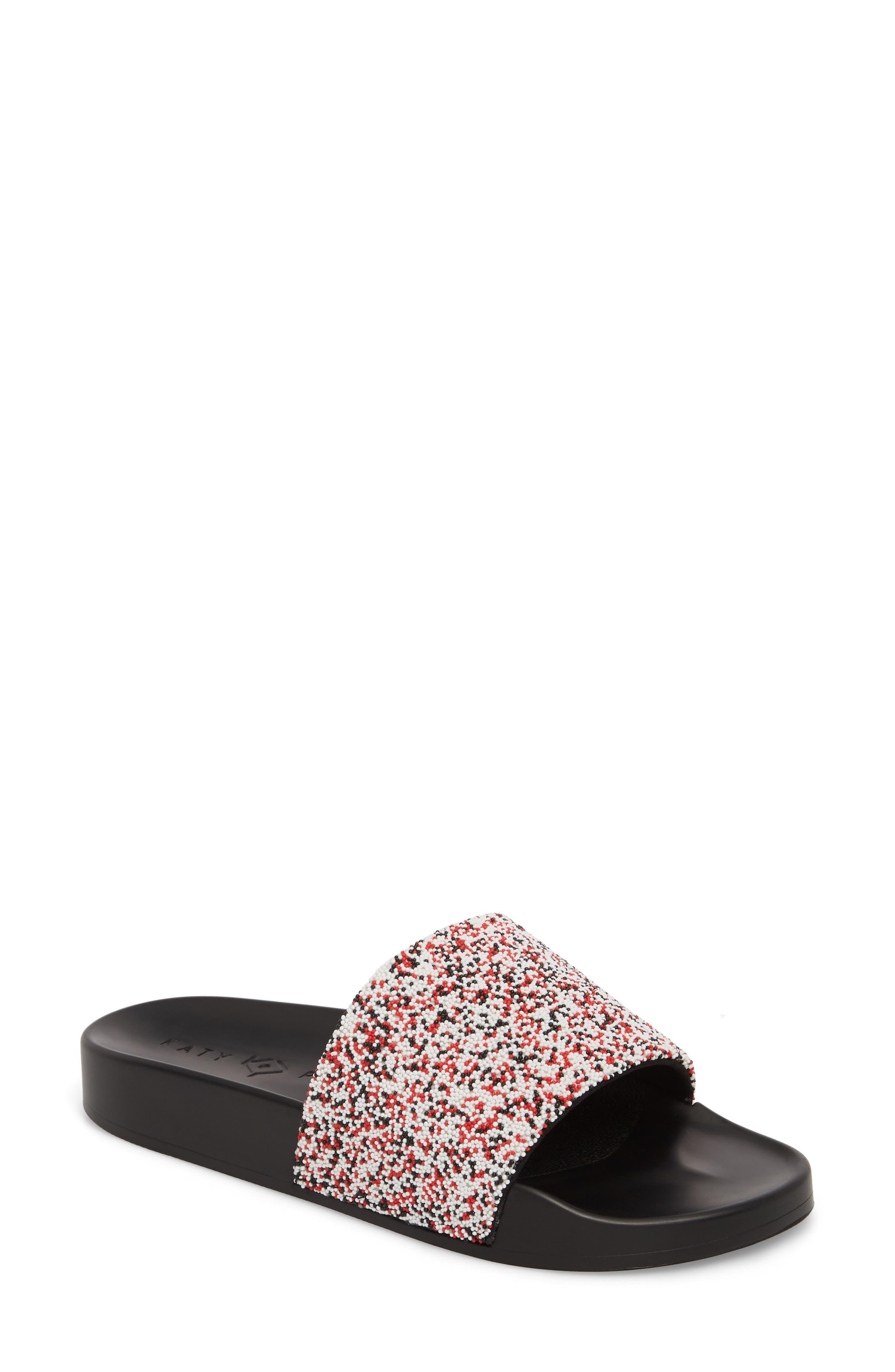The Jimmi Slide Sandal,                         Main,                         color, RED MULTI