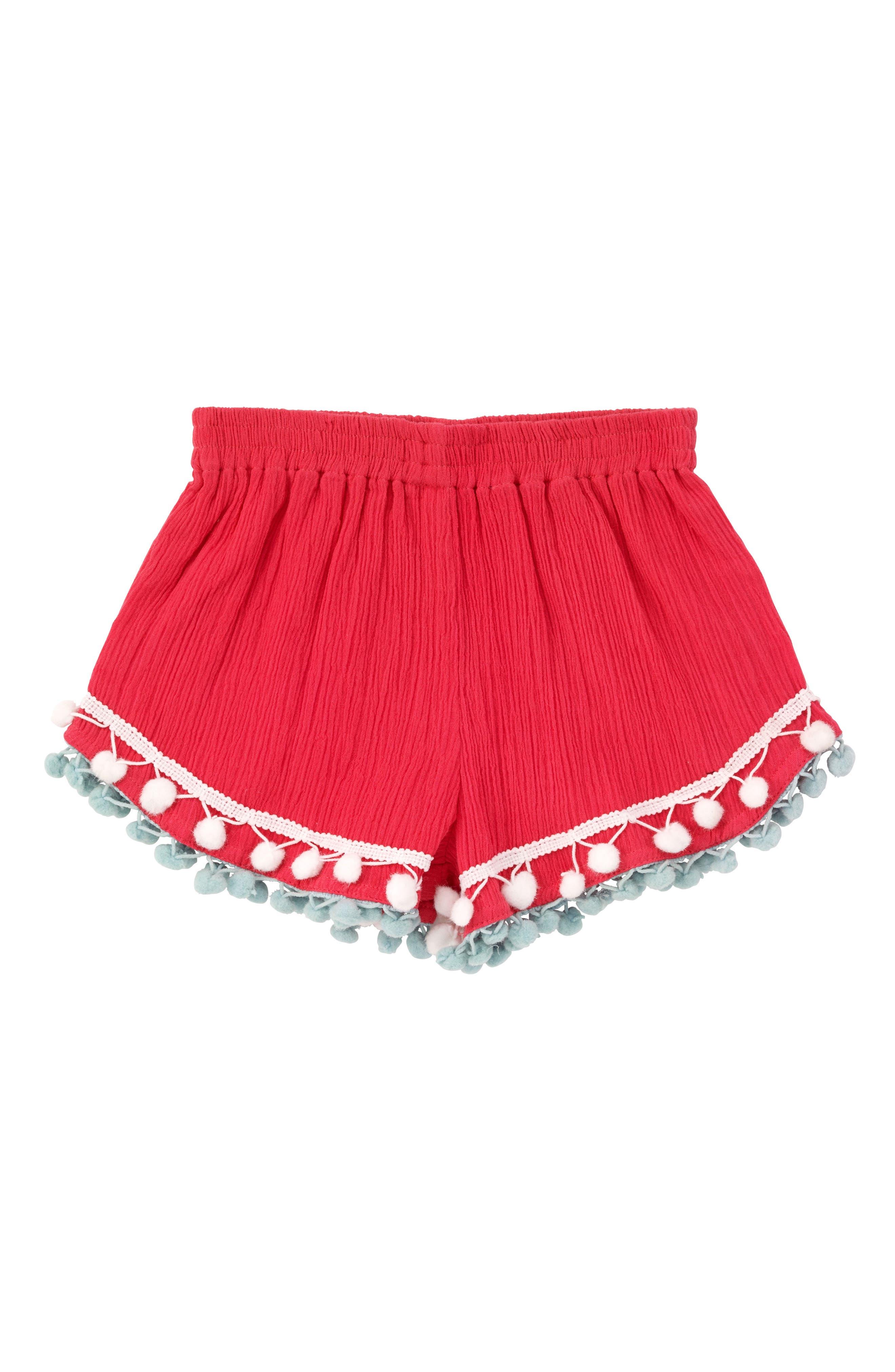 Pompom Shorts,                             Main thumbnail 1, color,                             600