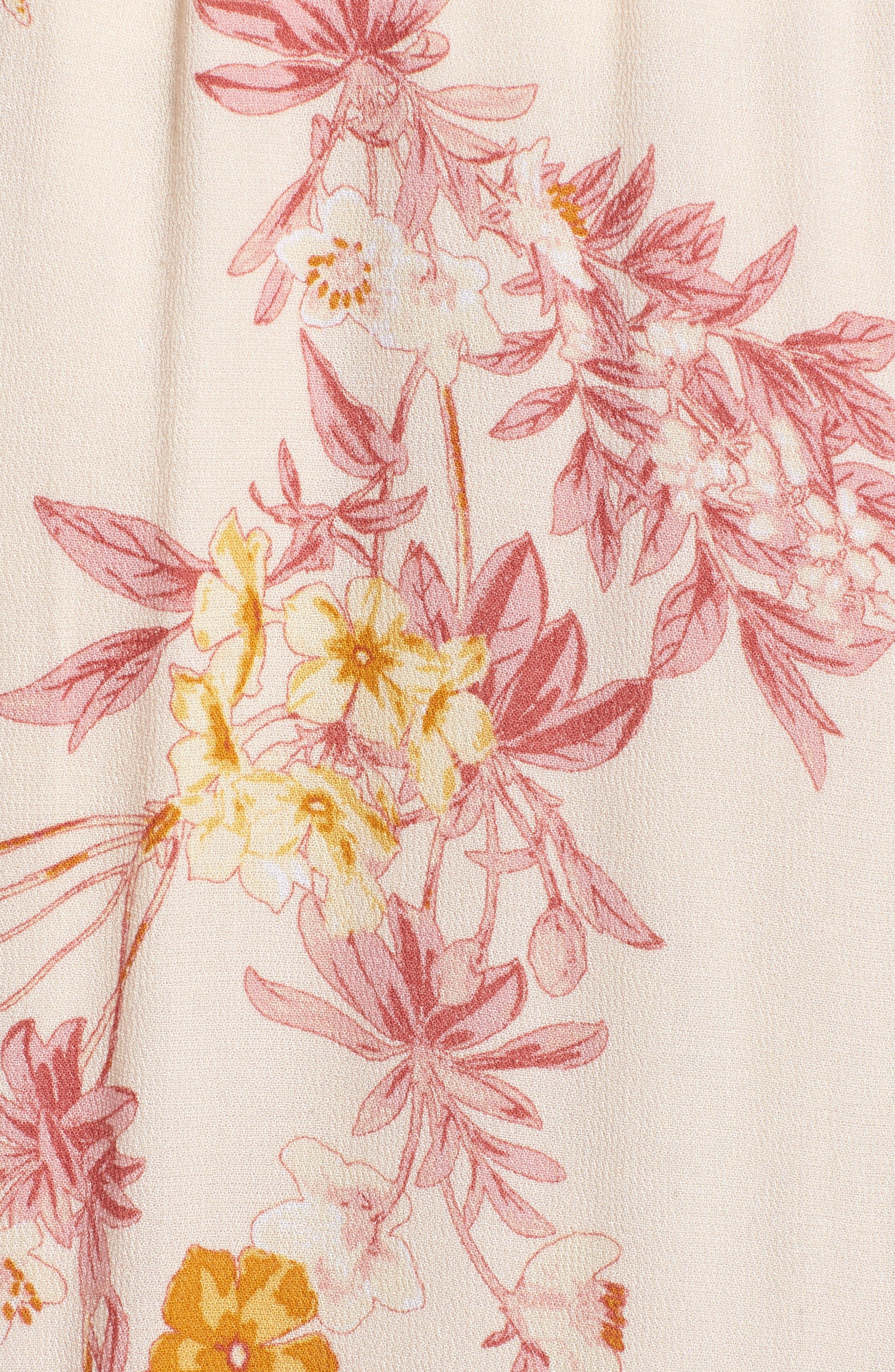 Print High/Low Midi Skirt,                             Alternate thumbnail 5, color,                             260